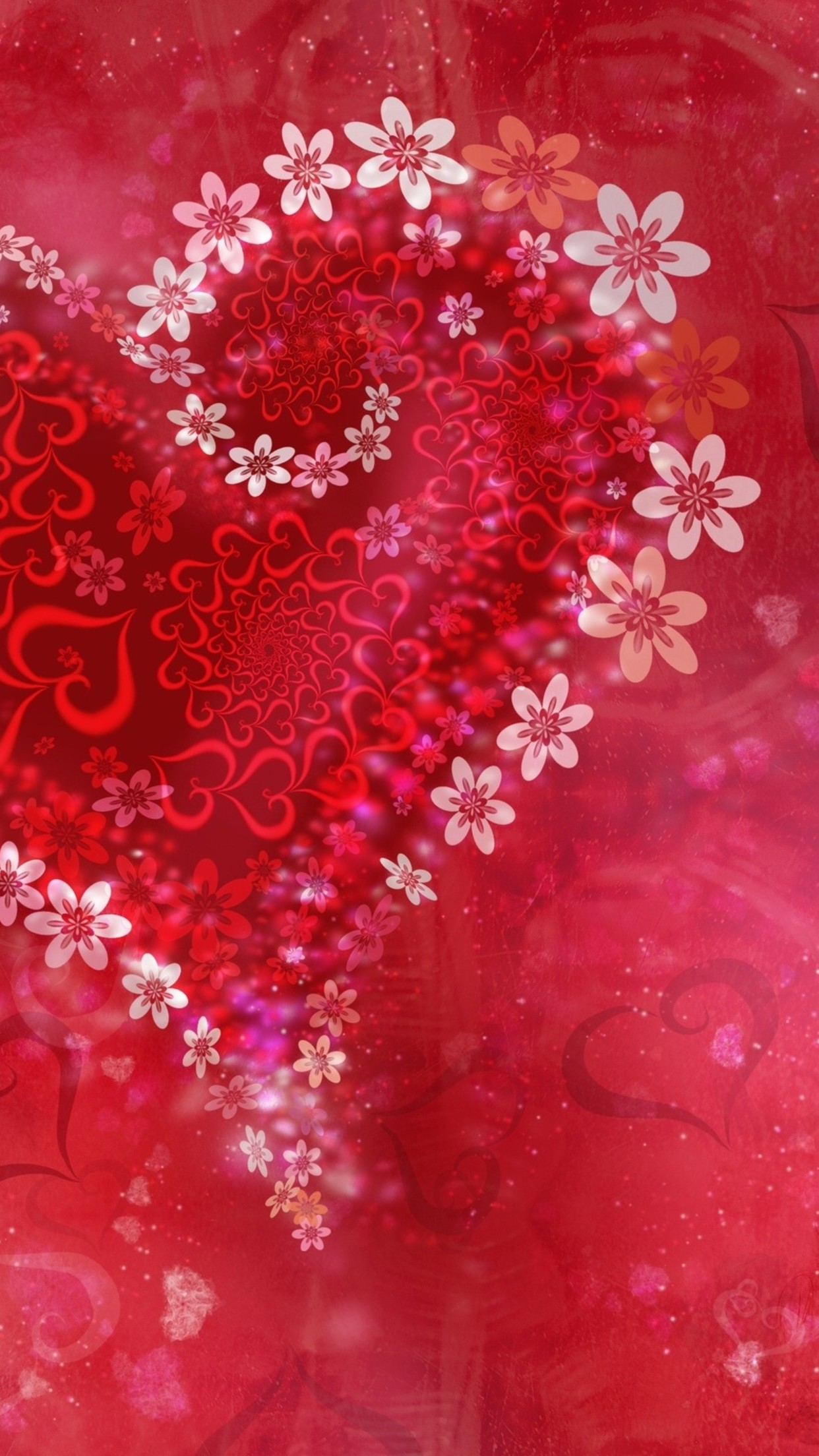 Valentine Day Flower Wallpaper For Iphone X 8 7 6 Free Download