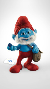 Smurfs Papa Smurf 3Wallpapers iPhone Parallax 169x300 Papa Smurf