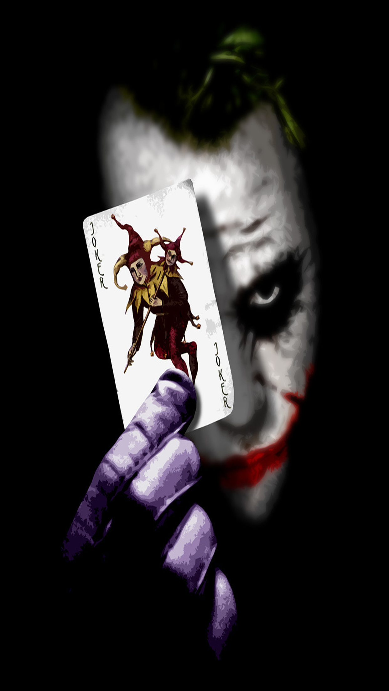 Joker card wallpaper for iphone x 8 7 6 free download on 3wallpapers - Joker brand wallpaper ...