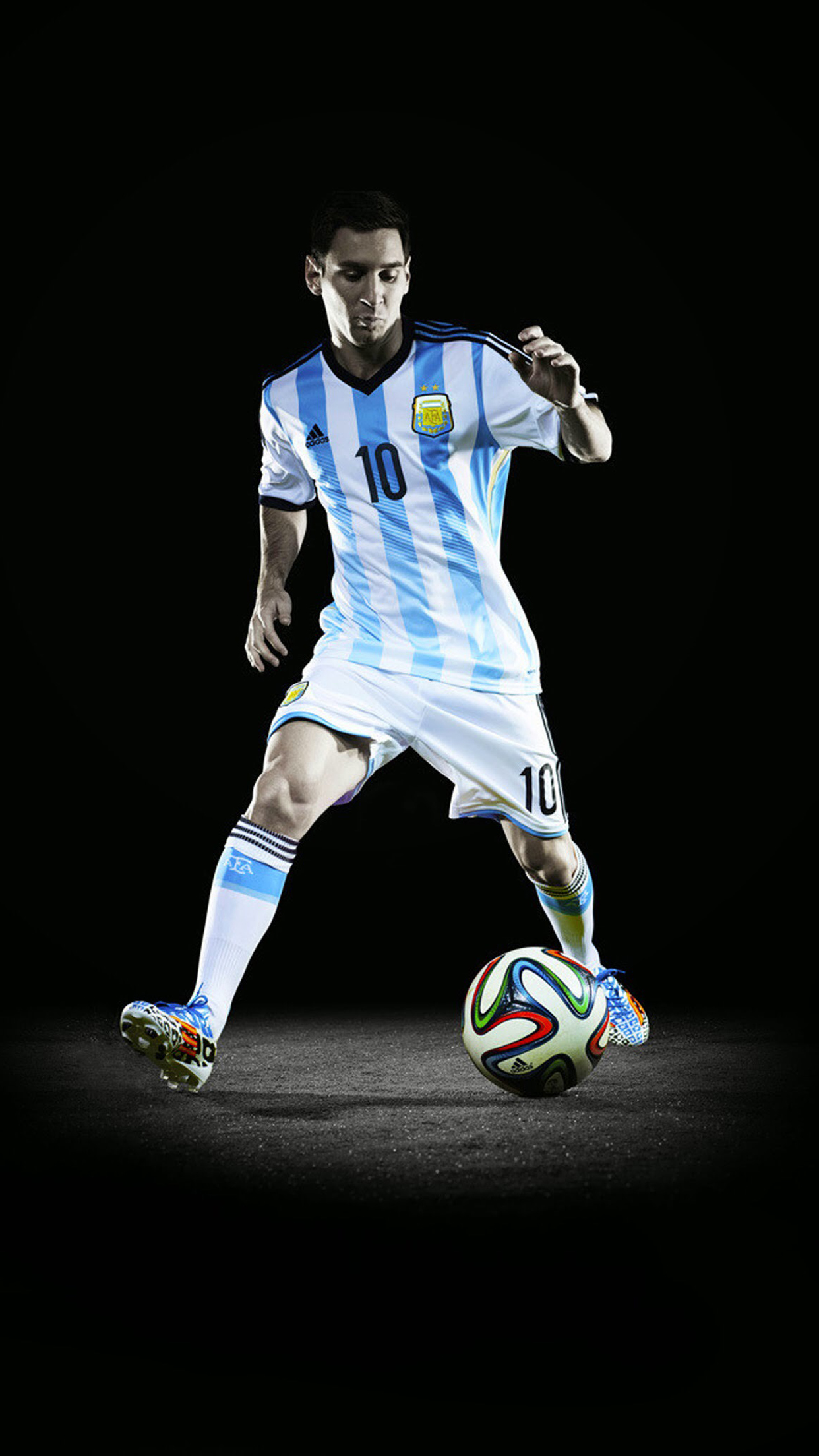 Wallpaper HD iPhone Lionel Messi - Free Download