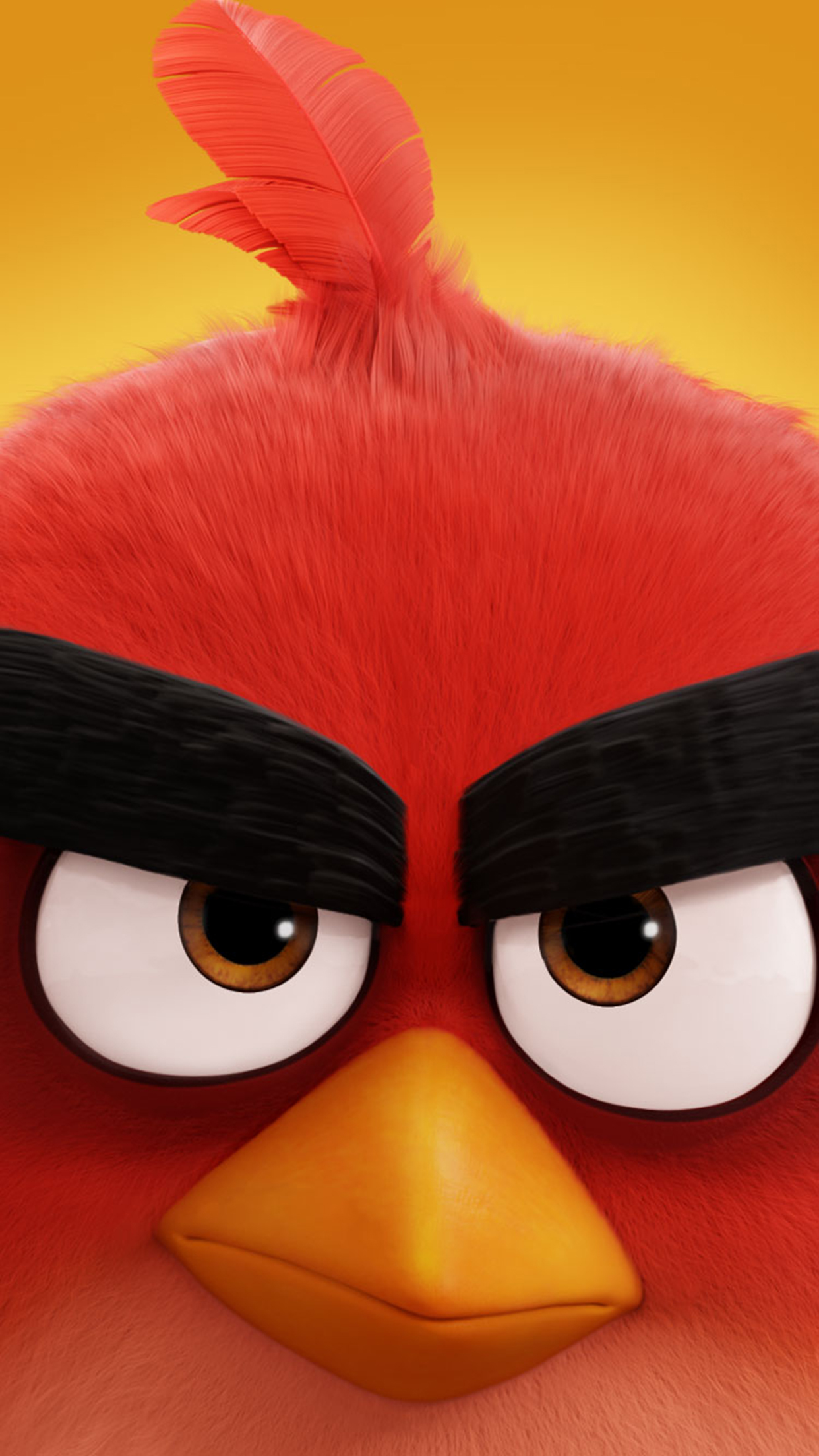 Angry Bird Red Wallpaper For Iphone X 8 7 6 Free Download On
