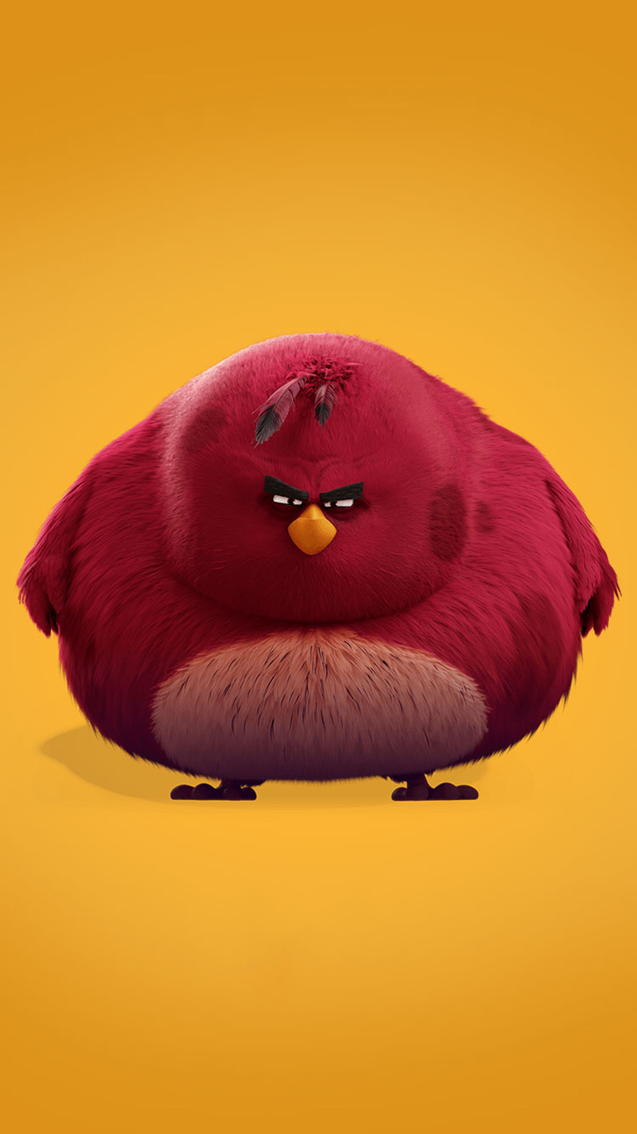 Angry Bird Terence 3Wallpapers iPhone Parallax Angry Bird Terence