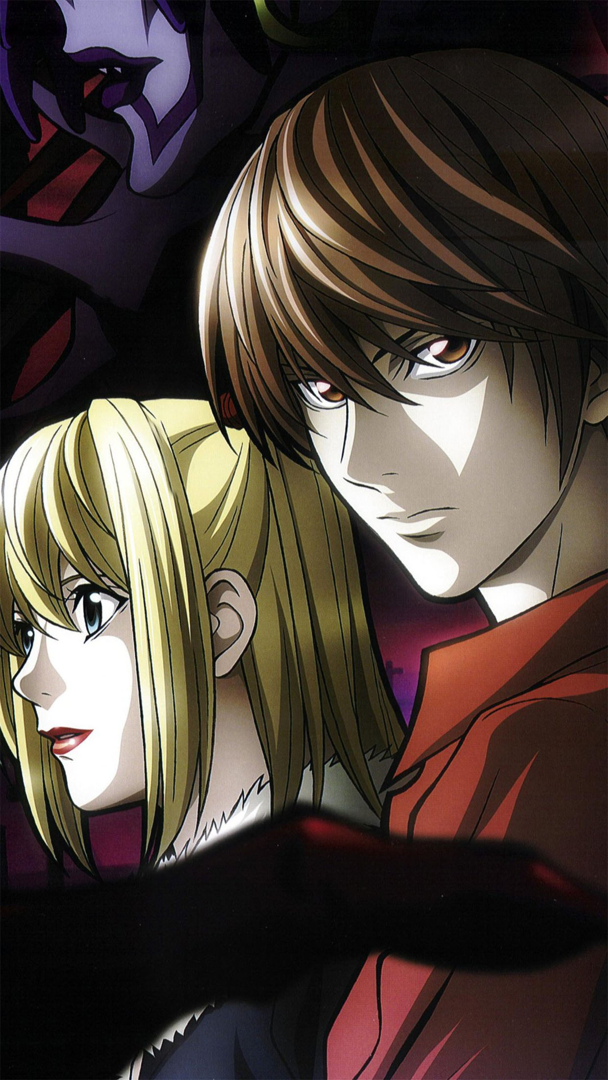Misa Amane And Light Yagami Wallpaper For Iphone X 8 7 6