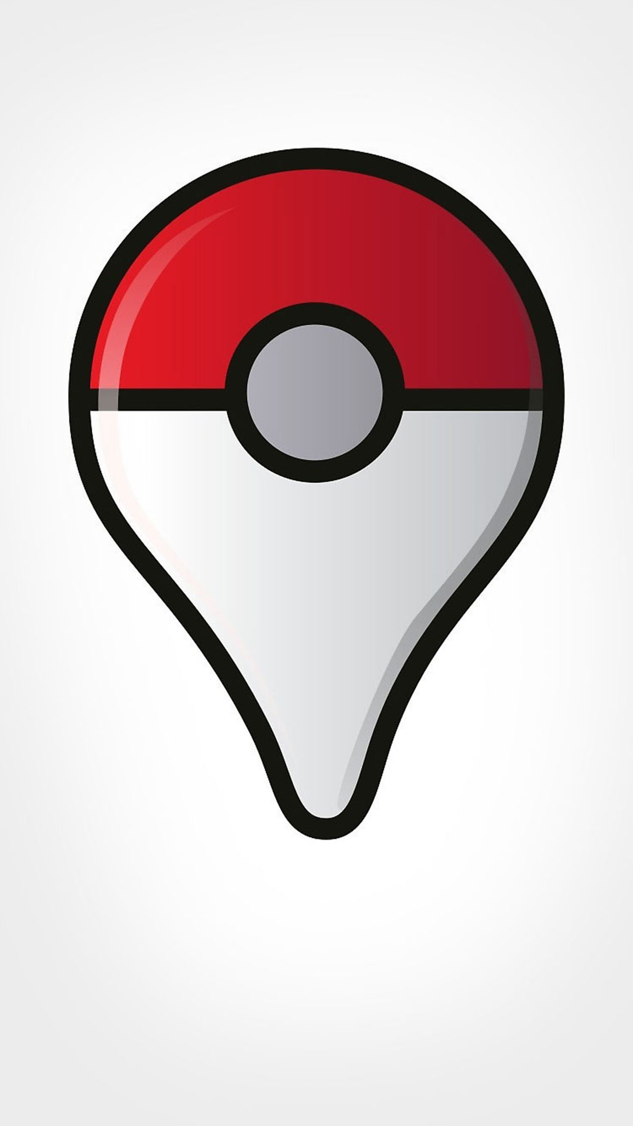 Pokémon GO Logo 3Wallpapers iPhone Parallax Pokémon GO logo
