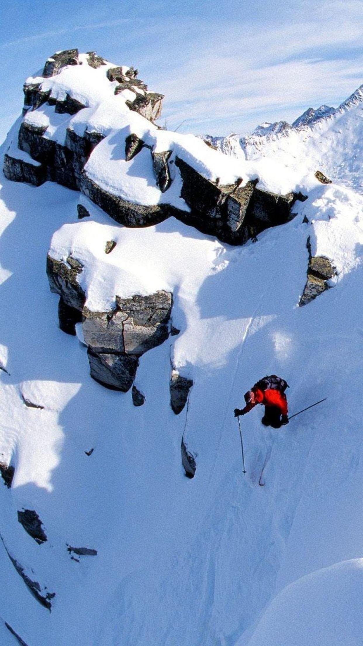 Ski Ski 2 3Wallpapers iPhone Parallax Ski 2