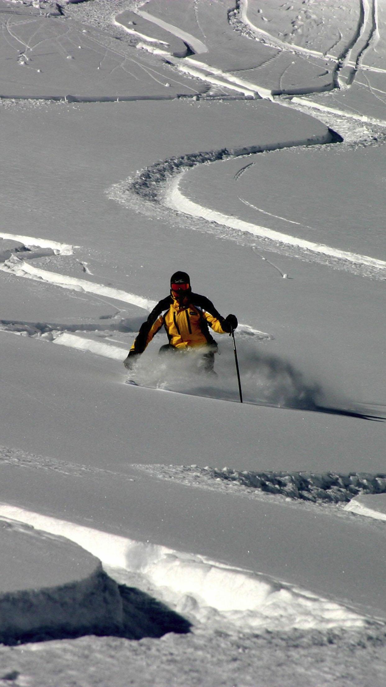 Ski Ski 3 3Wallpapers iPhone Parallax Ski 3