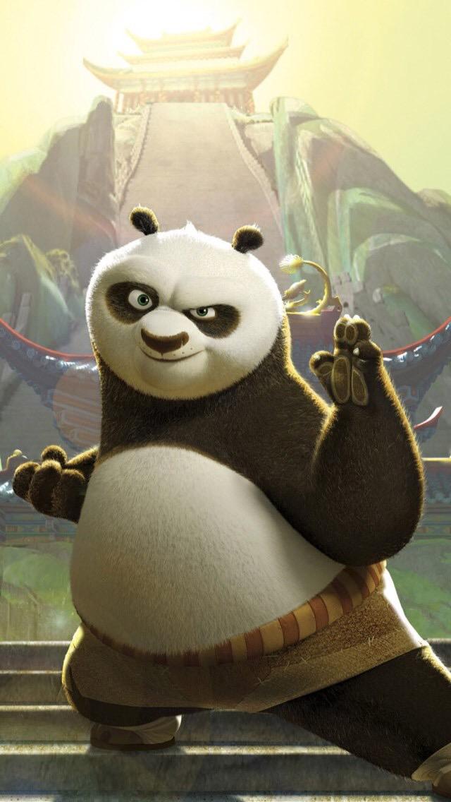 Kung Fu Panda Po Ping 3Wallpapers iPhone Parallax Po Ping