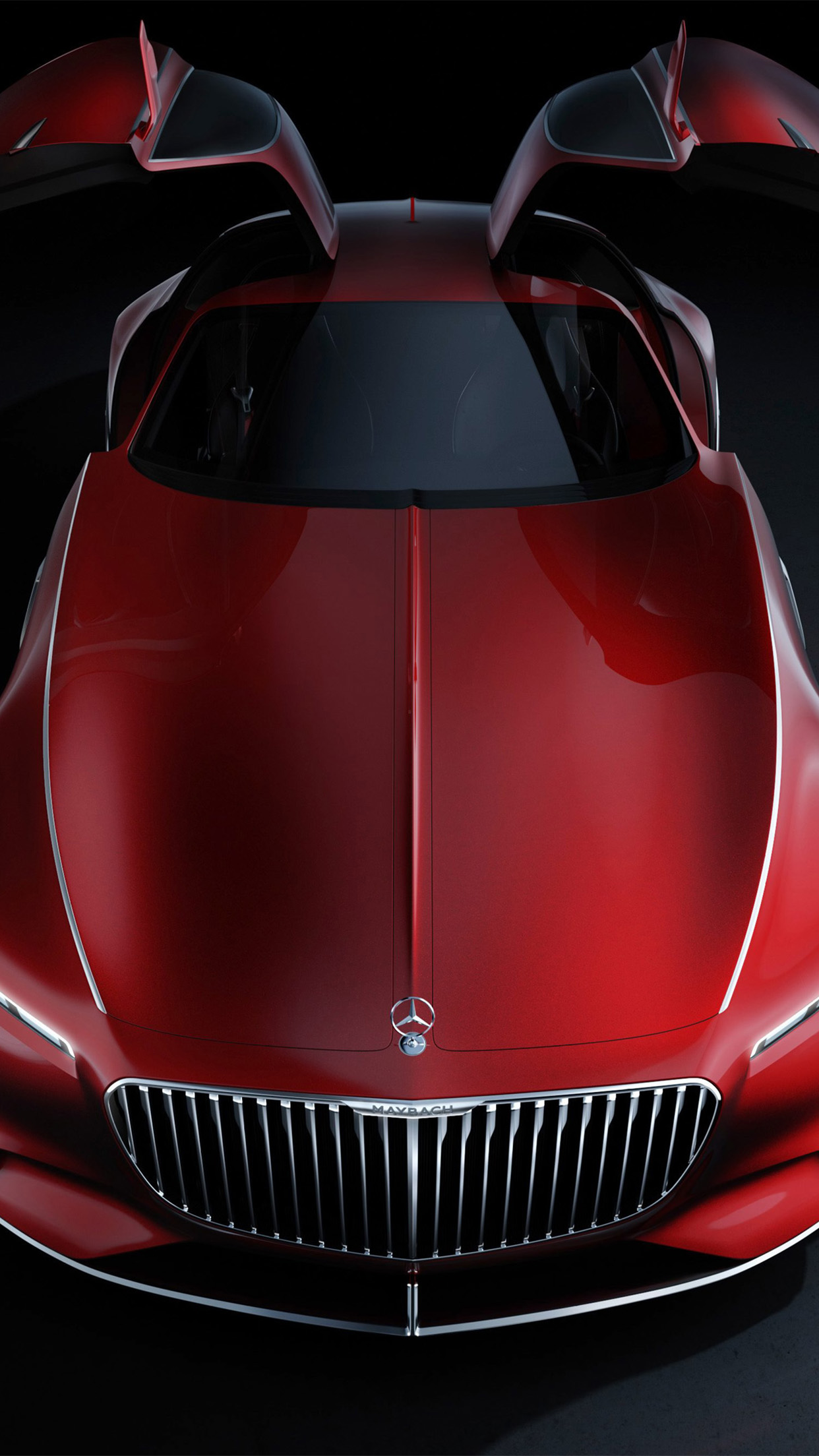 Mercedes Maybach Vision 6 Front Wallpaper For Iphone X 8
