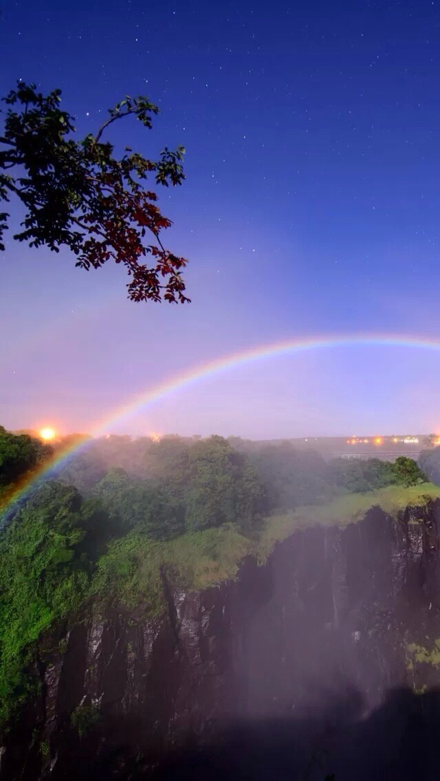 Rainbow Rainbow 2 3Wallpapers iPhone Parallax Rainbow 2