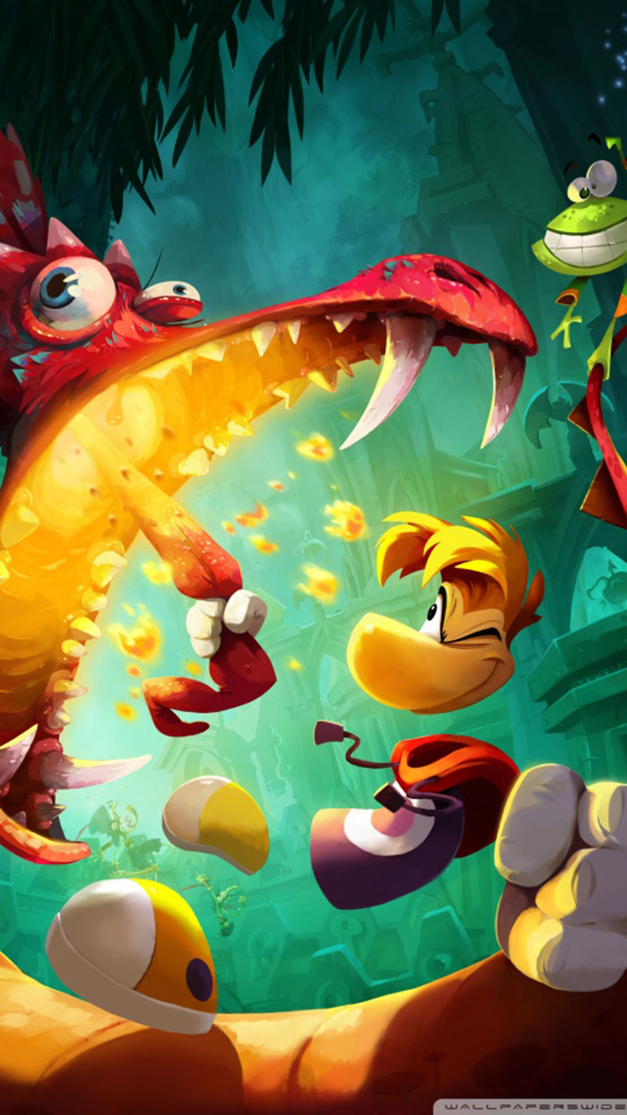 Rayman legends Rayman attack 3Wallpapers iPhone Parallax Rayman attack