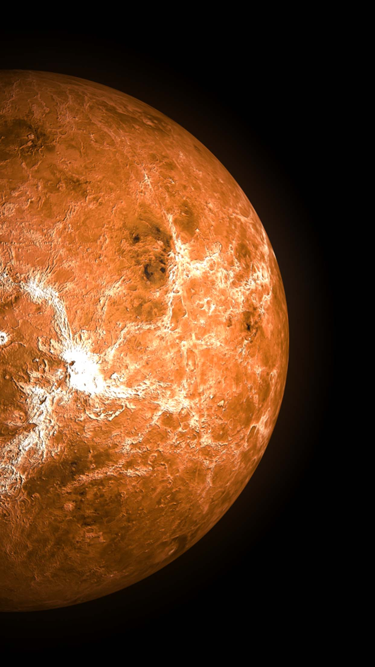 Venus planet Venus planet 2 3Wallpapers iPhone Parallax Venus planet 2