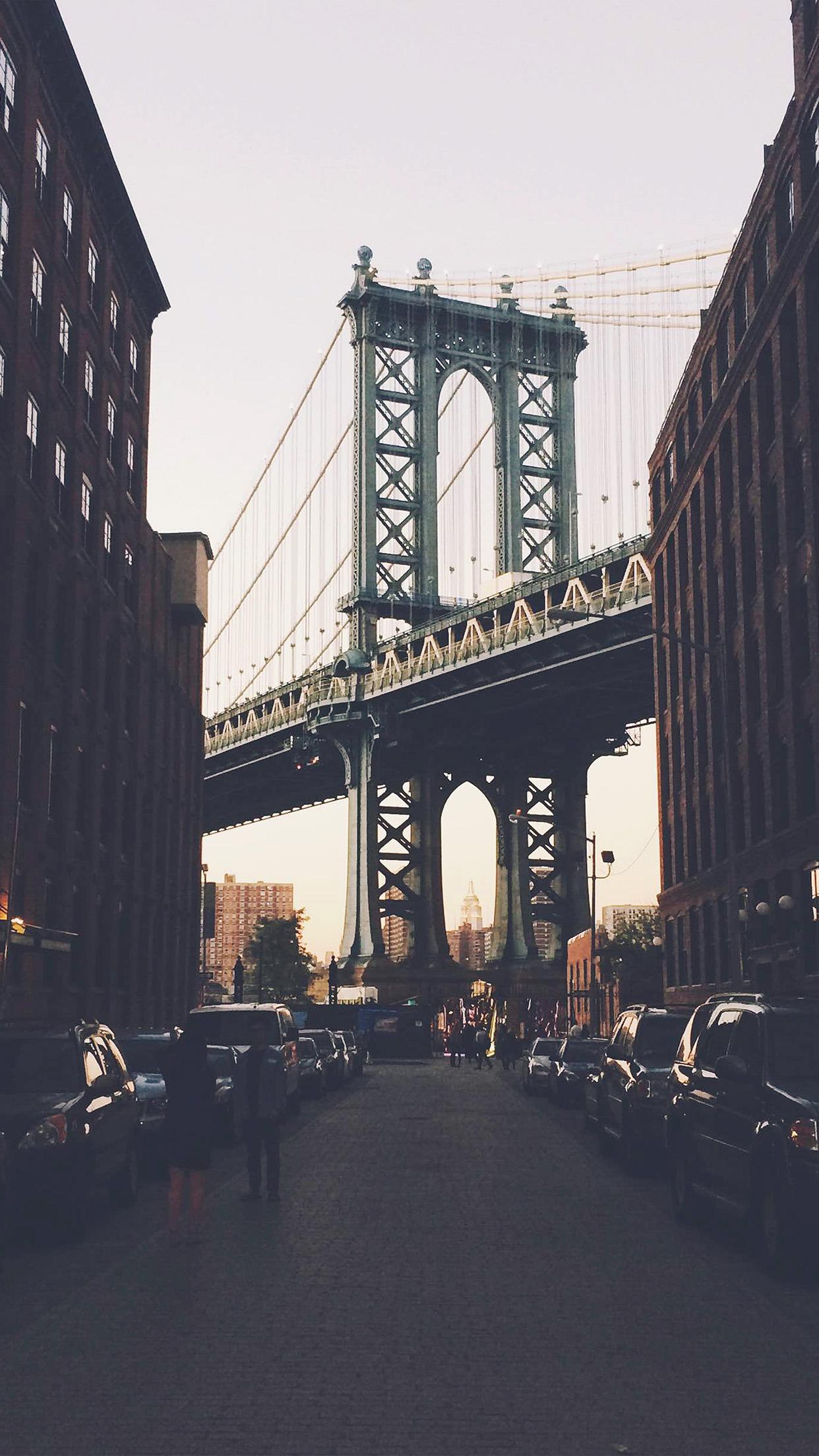 New York New York Bridge city 3Wallpapers iPhone Parallax New York Bridge