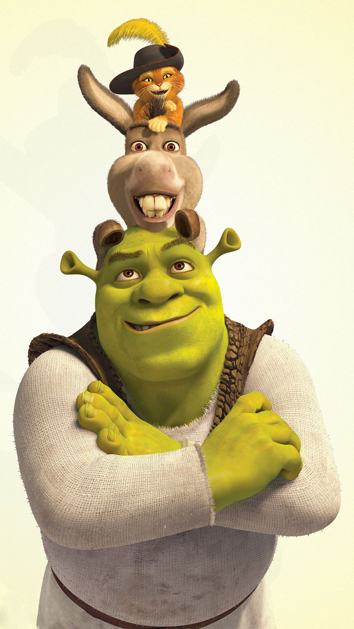 Shrek Donkey And Puss In Boots Wallpaper For Iphone X 8 7