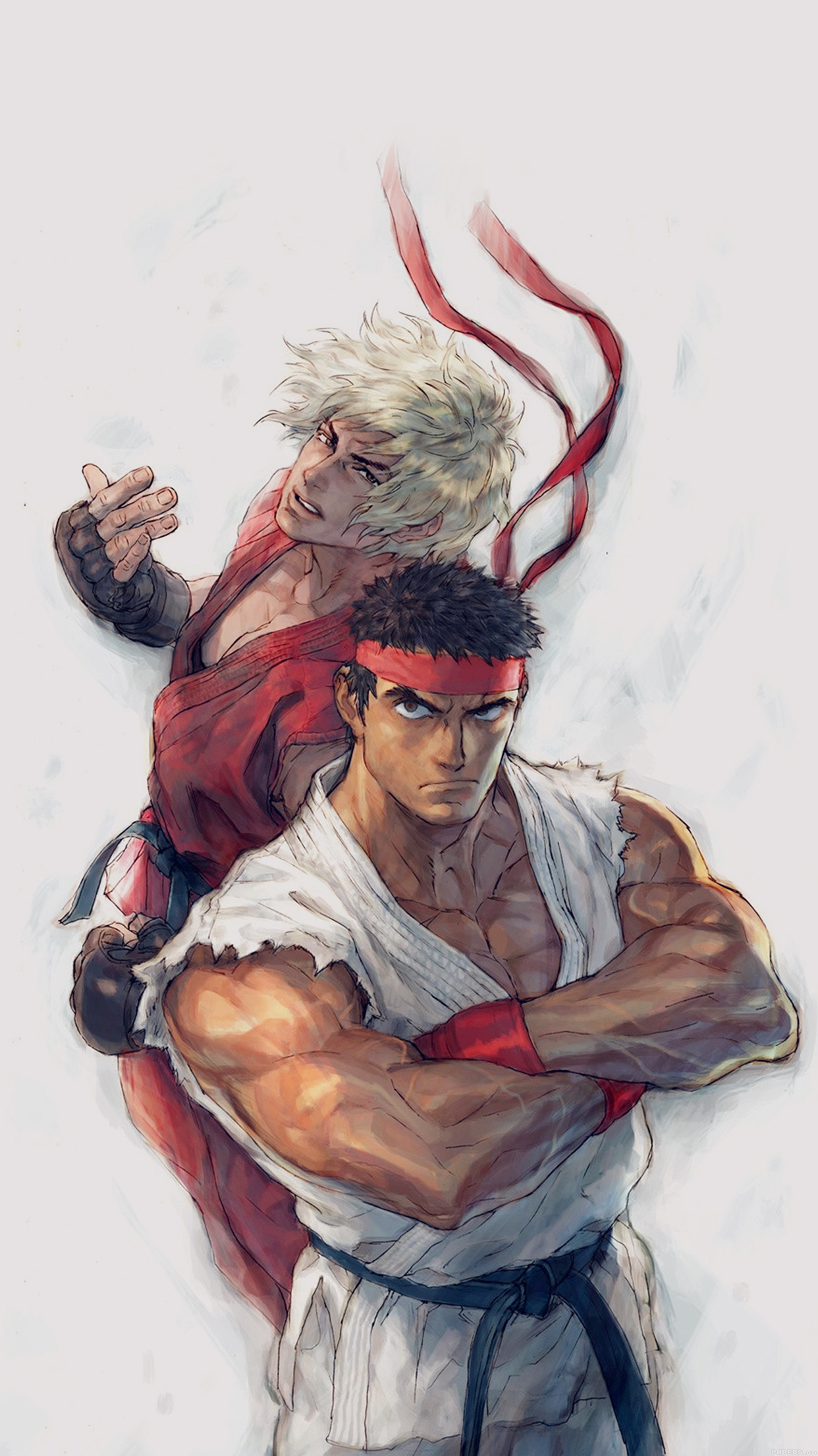 Street Figthers Ryu Ken 3Wallpapers iPhone Parallax Street Figthers: Ryu and Ken