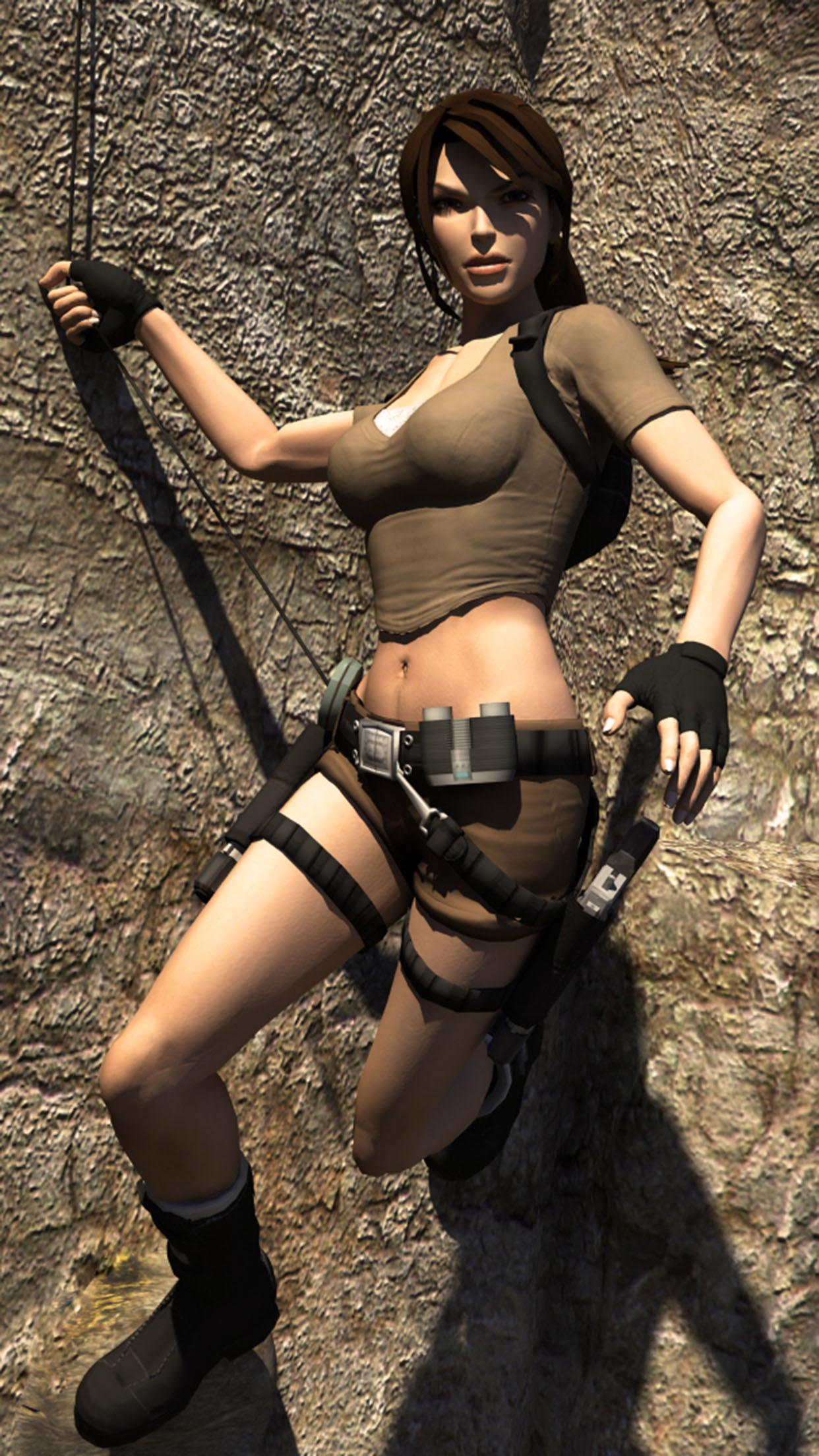 Tomb Raider Lara Croft 3Wallpapers iPhone Parallax Lara Croft