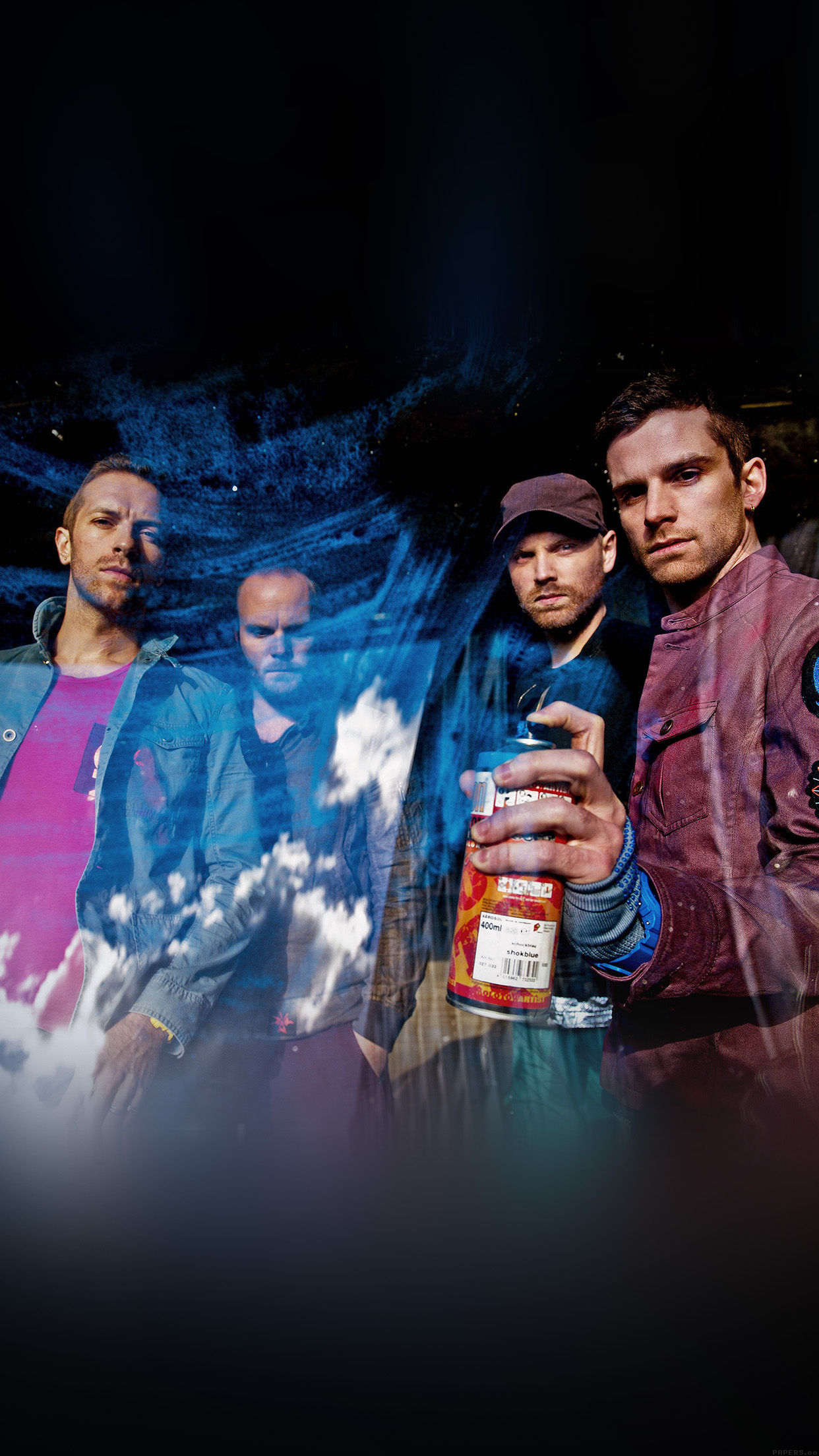 Coldplay Music Band Celebrity 3Wallpapers iPhone Parallax Coldplay: Music band celebrity