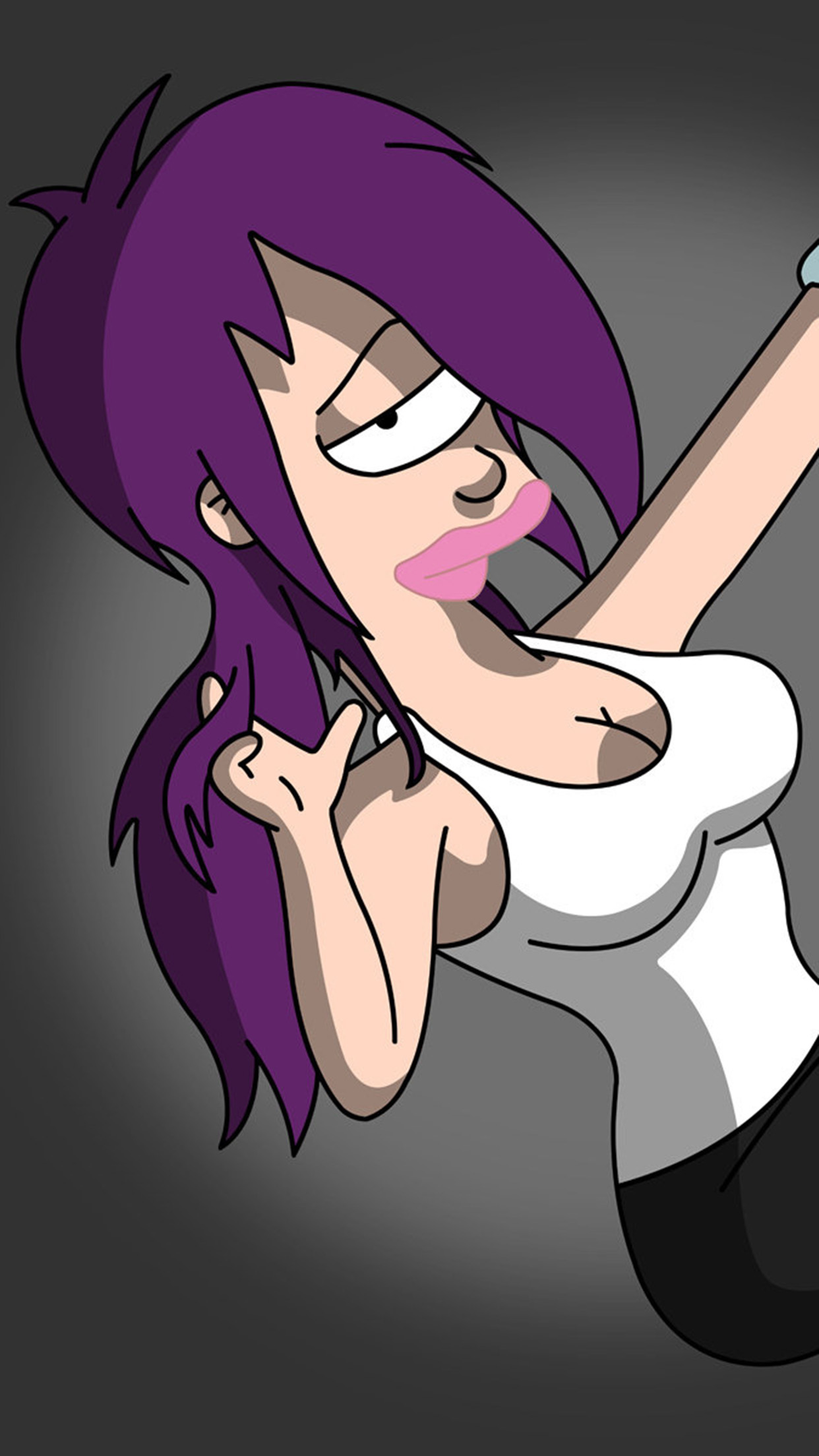 Futurama Leela 3Wallpapers iPhone Parallax Leela