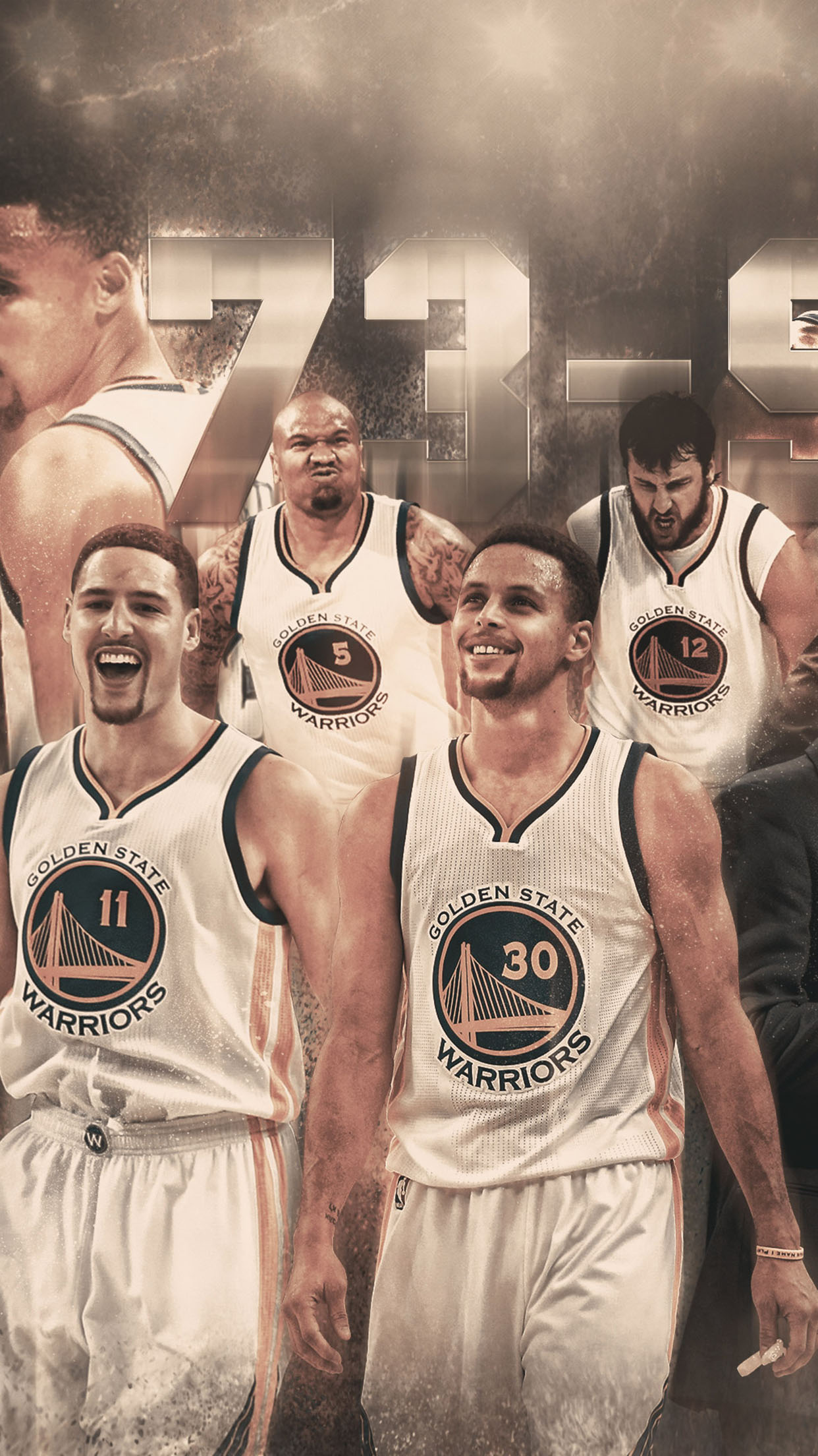 Golden State Warriors 73 9 Record 3Wallpapers iPhone Parallax Golden State Warriors: 73 9 Record