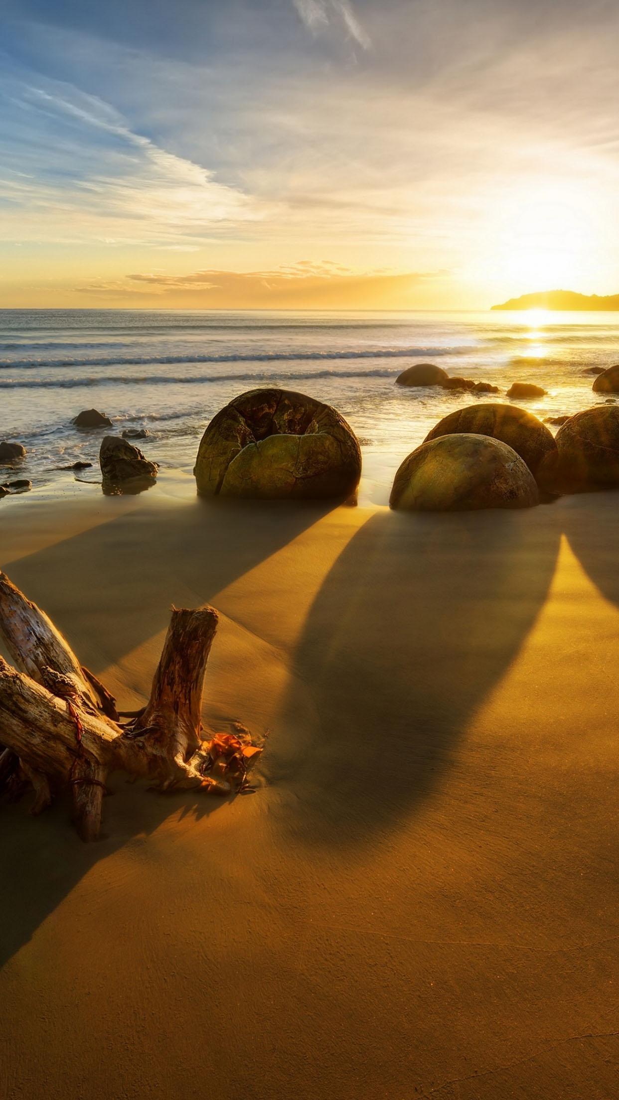 New Zealand Sunrise 3Wallpapers iPhone Parallax New Zealand: Sunrise