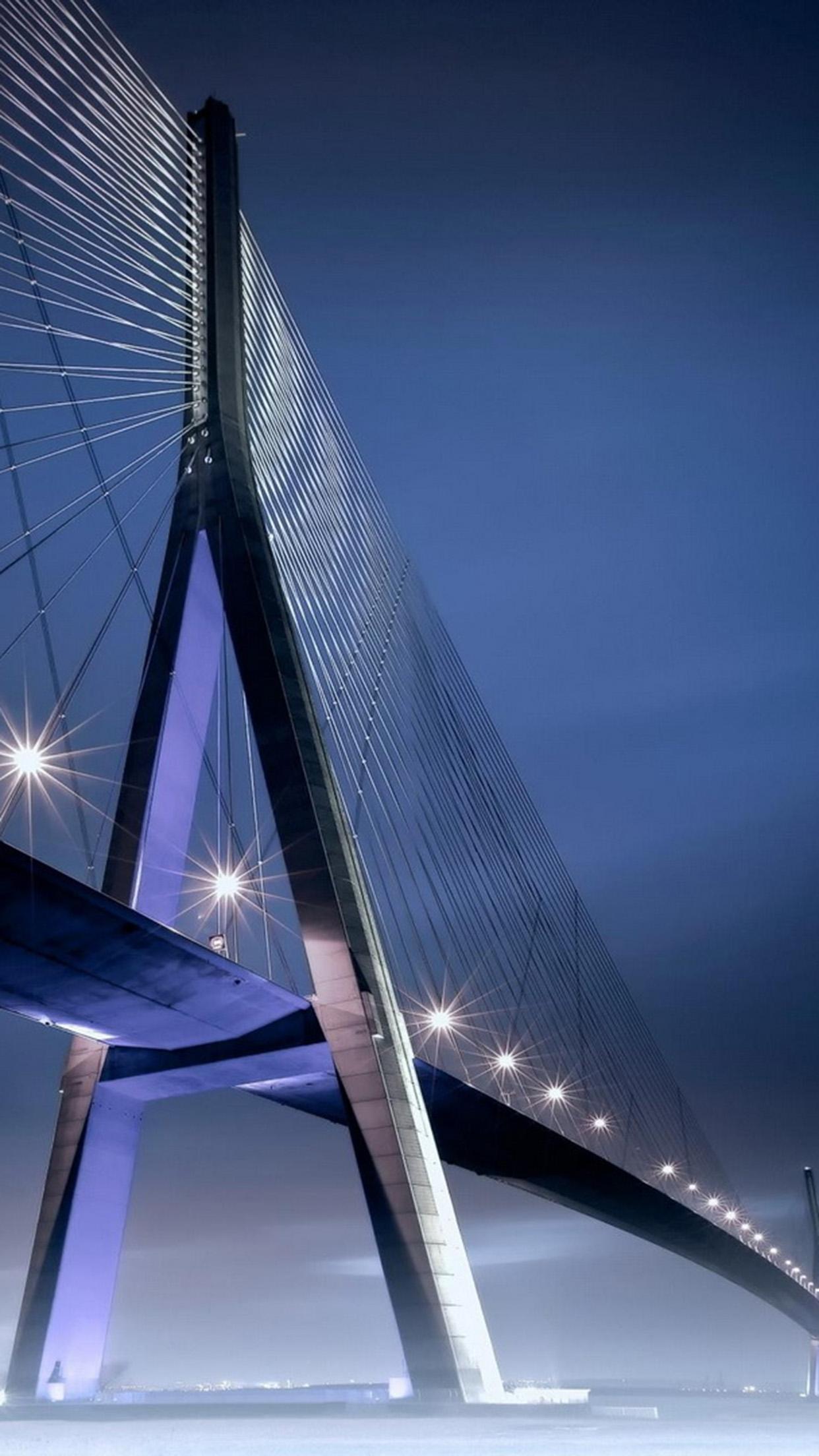 Normandie Pont de Normandie 3Wallpapers iPhone Parallax Normandy: Bridge