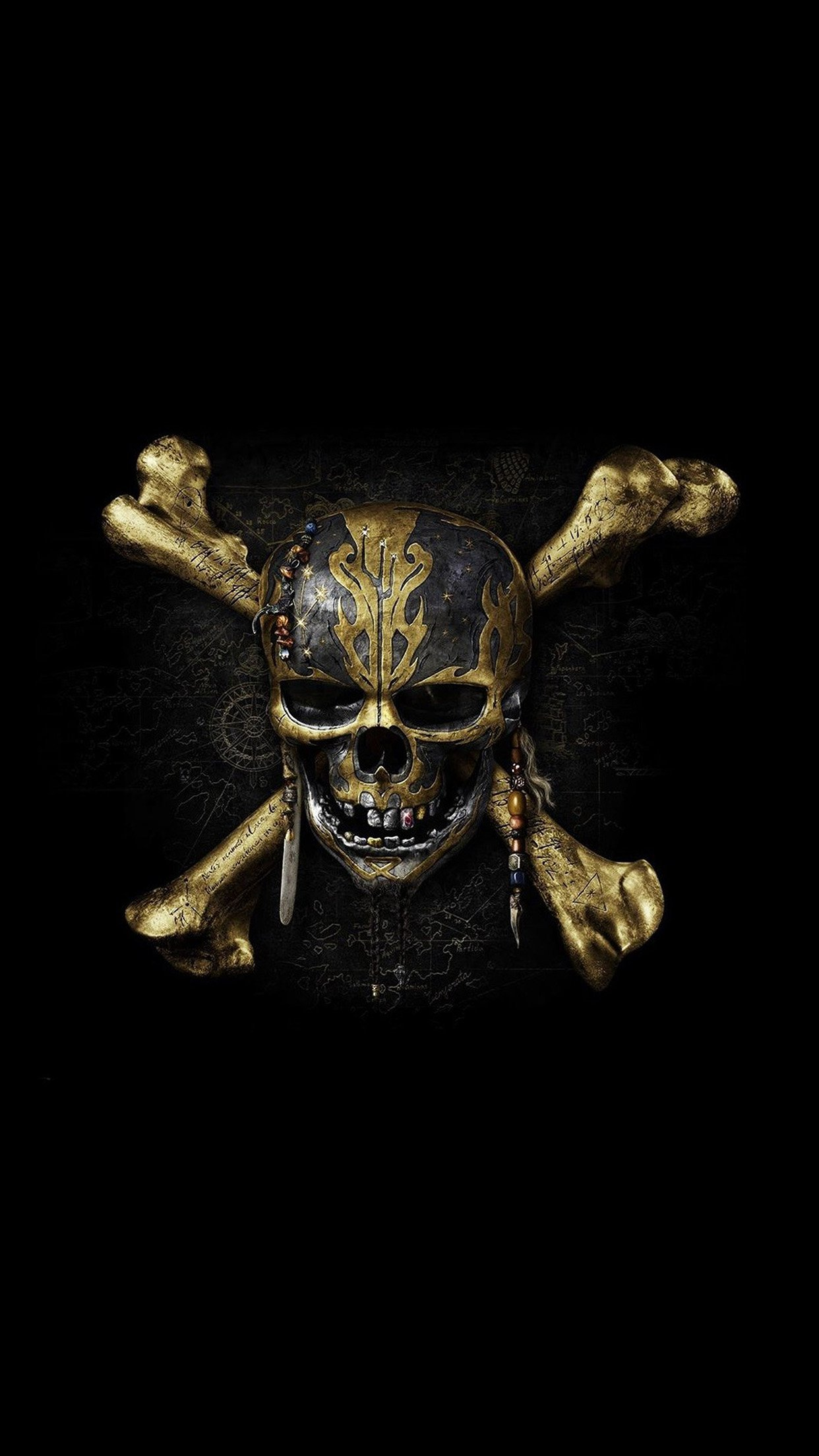 Skull Pirates Dark Wallpaper For Iphone 11 Pro Max X 8 7 6 Free Download On 3wallpapers