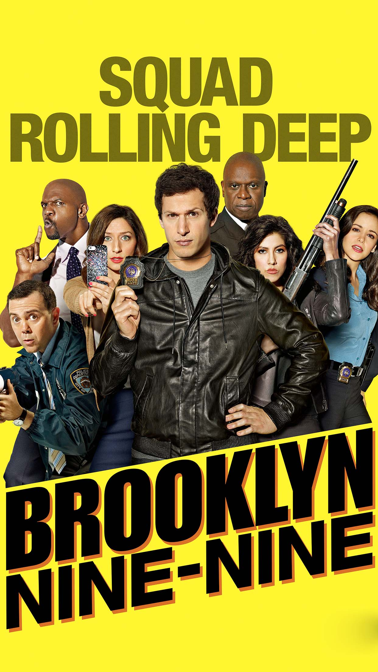 Brooklyn Nine Nine Team 3Wallpapers iPhone Parallax 3Wallpapers : notre sélection de fonds d'écran du 01/12/2016