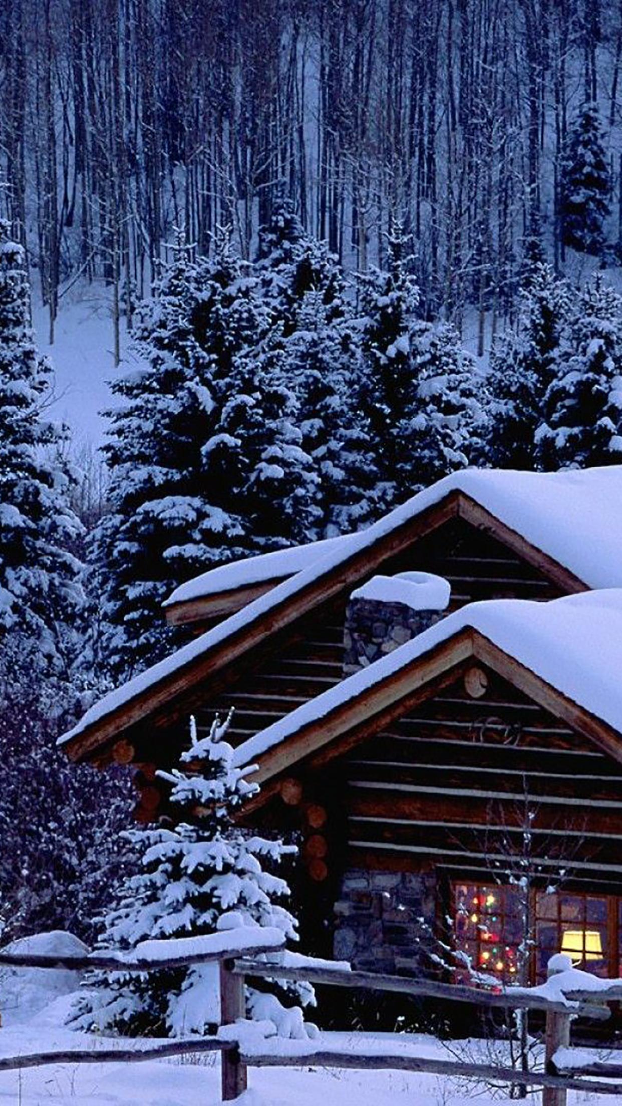Christmas Maison Sous la Neige 3Wallpapers iPhone Parallax 3Wallpapers : notre sélection de fonds décran du 13/12/2016