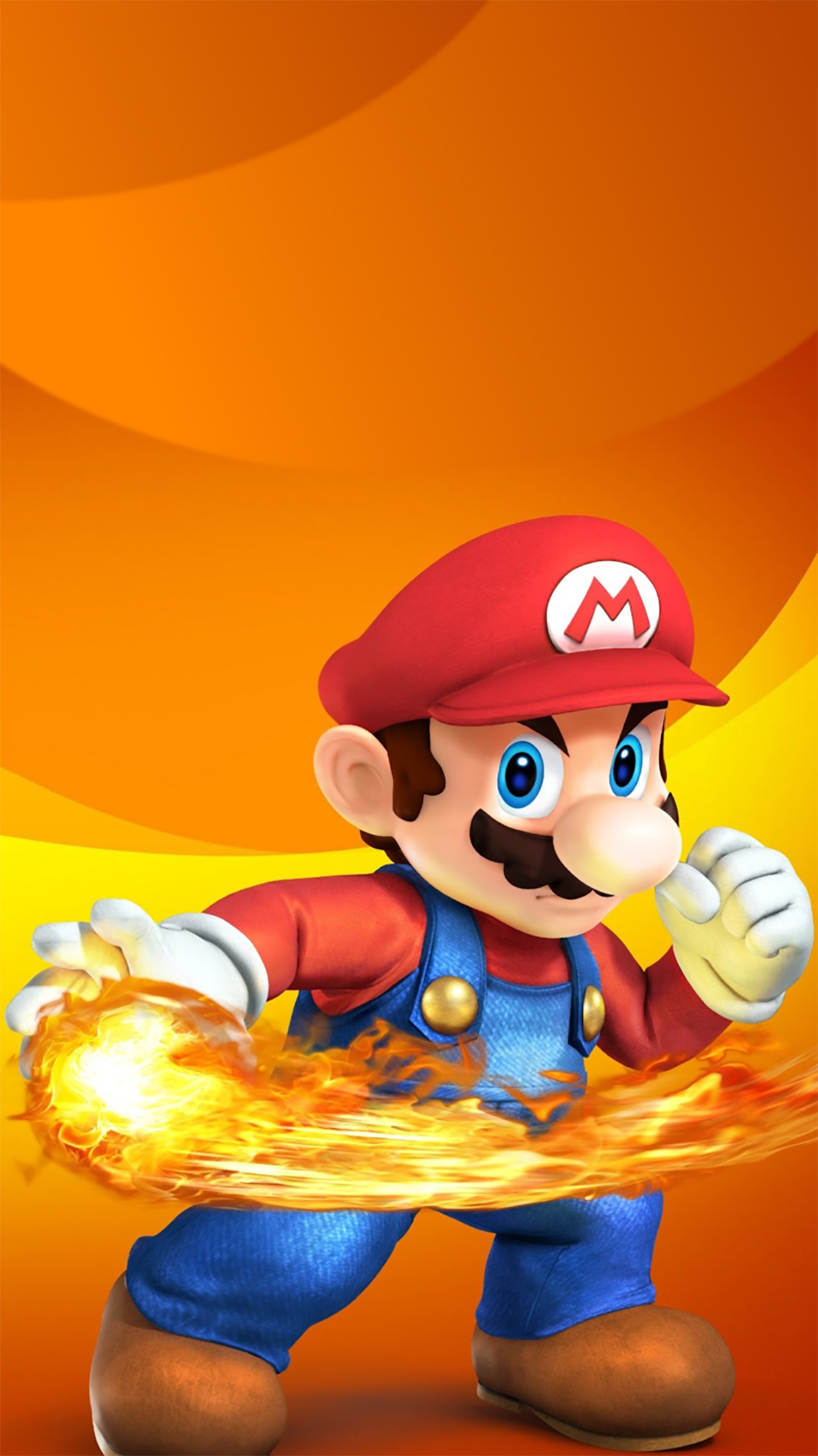 Super Mario Fire 3Wallpapers iPhone Parallax Super Mario : Fire
