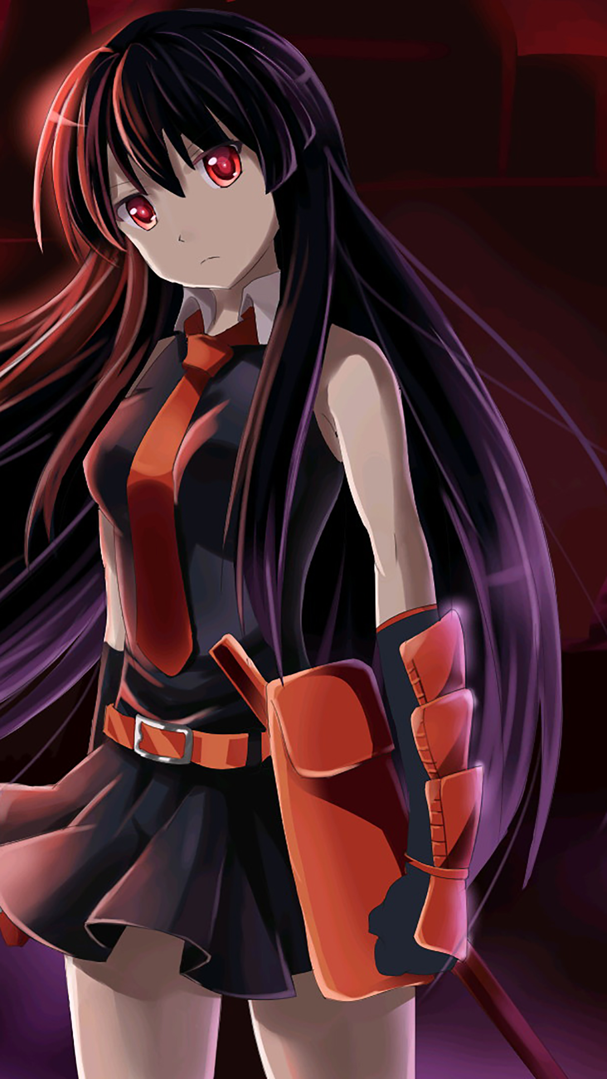 Akame Ga Kill Standing Wallpaper For Iphone X 8 7 6 Free