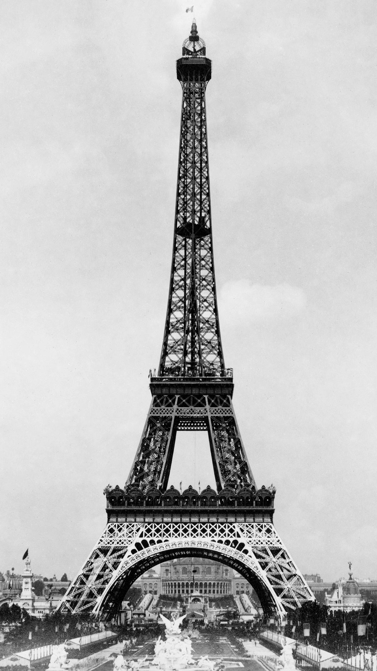 Eiffel Tower Retro 3Wallpapers iPhone Parallax Eiffel Tower Retro