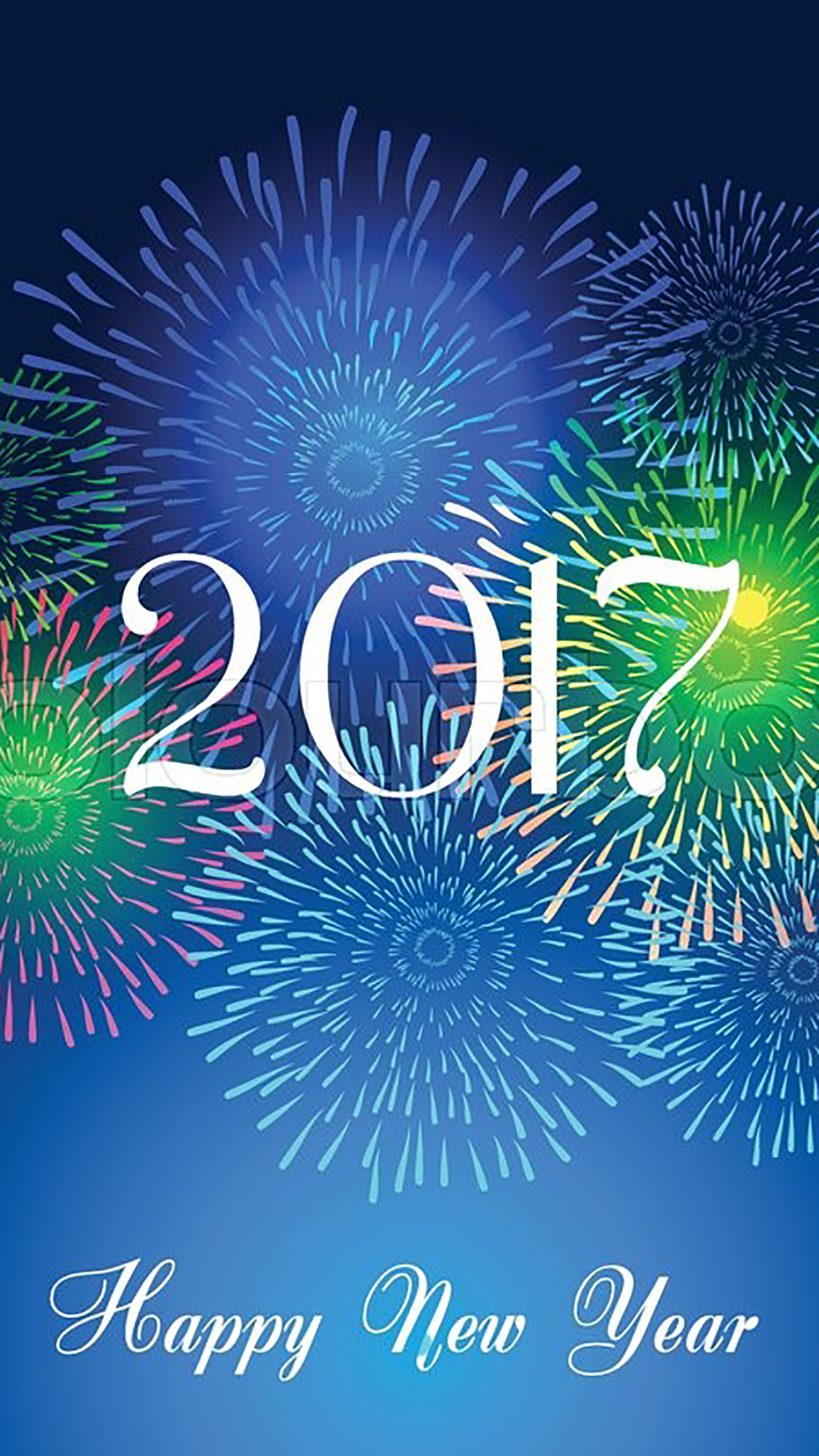 Happy New Year 2017 Wallpaper For Iphone X 8 7 6 Free