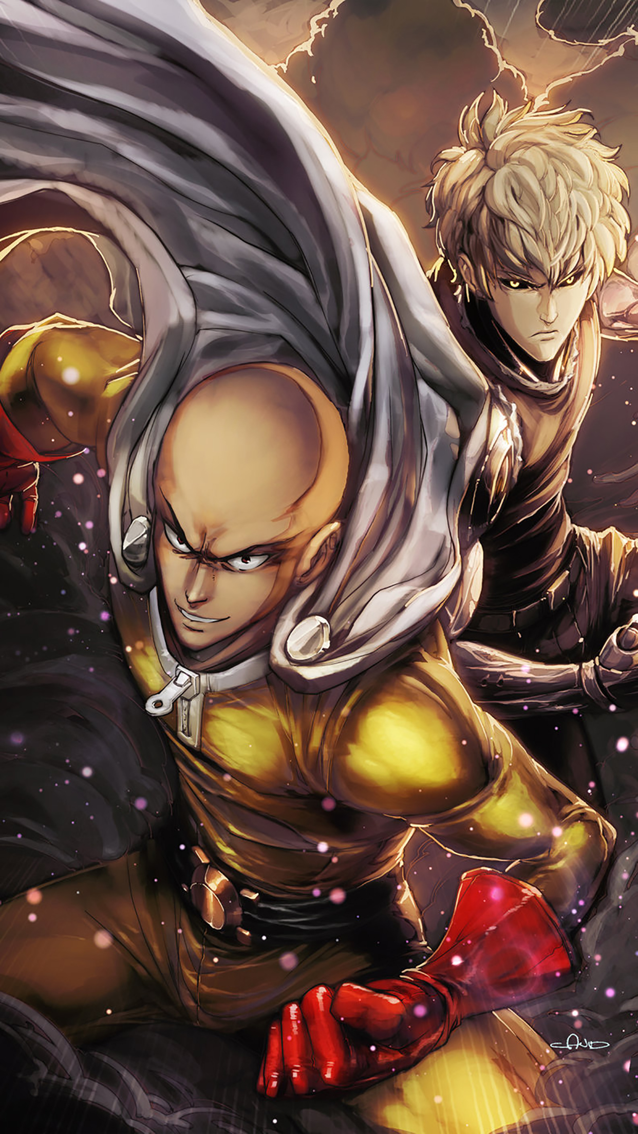 One Punch Man Acting Wallpaper For Iphone X 8 7 6