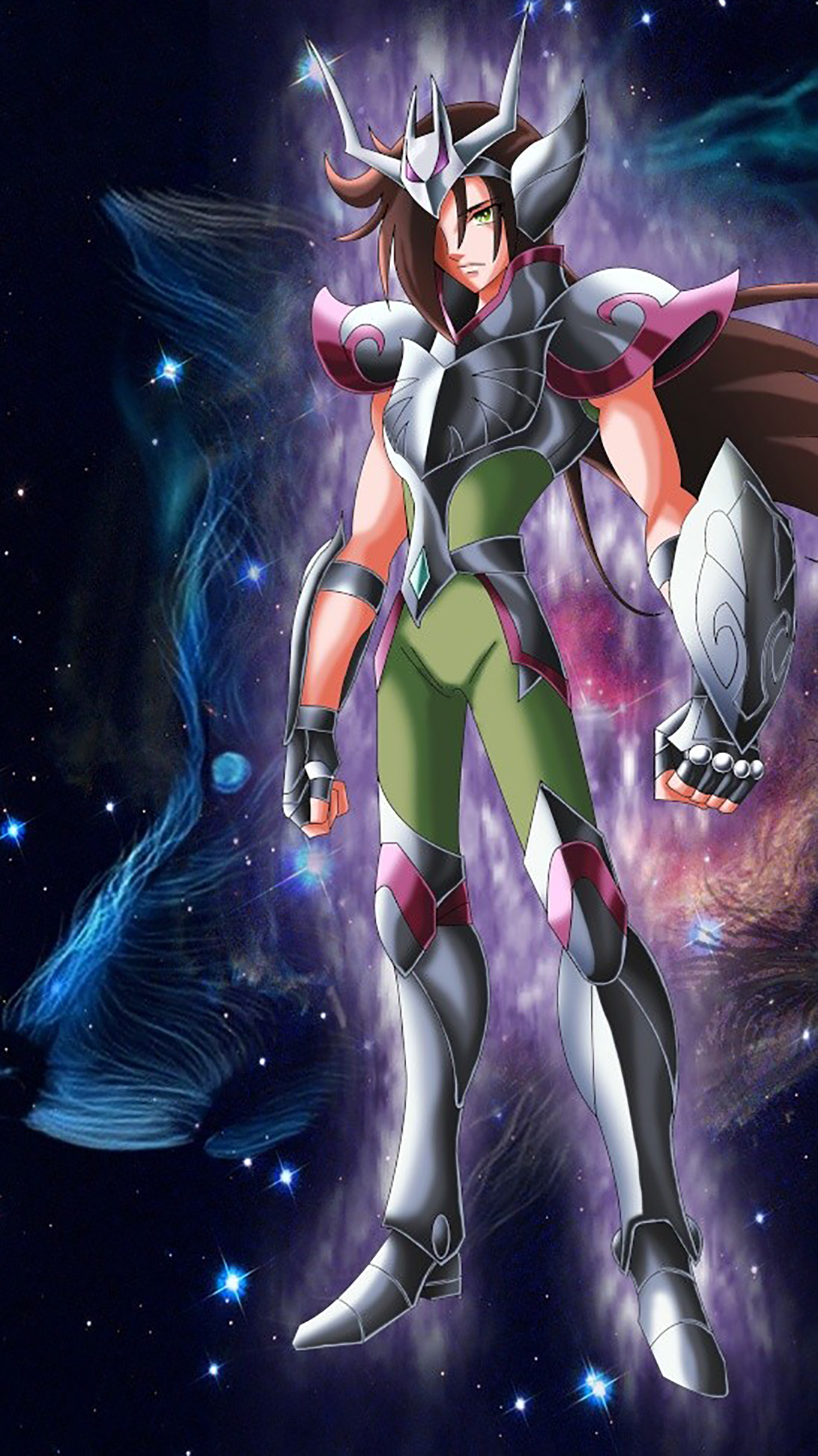 Saint Seiya Standing 3Wallpapers iPhone Parallax Saint Seiya : Standing