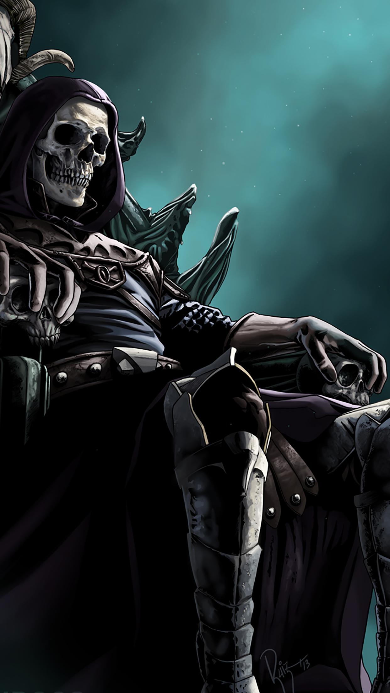 Skeletor In Black 3Wallpapers iPhone Parallax Skeletor : In Black
