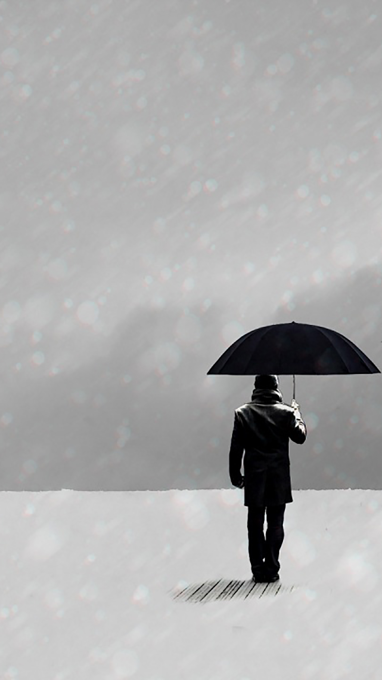 Umbrella Man Standing 3Wallpapers iPhone Parallax Les 3Wallpapers iPhone du jour (13/01/2017)