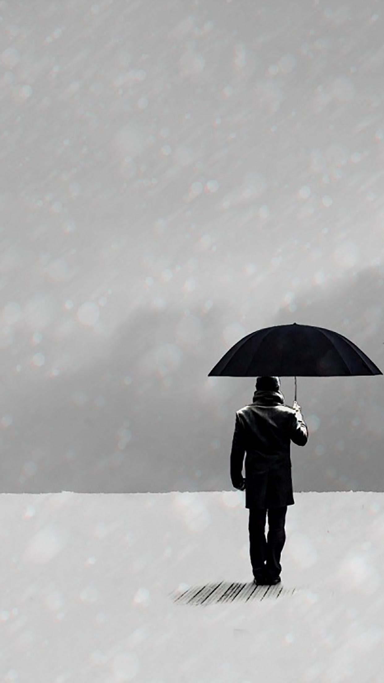 Umbrella Man Standing 3Wallpapers iPhone Parallax Les 3Wallpapers iPhone du jour (13/01/2017)