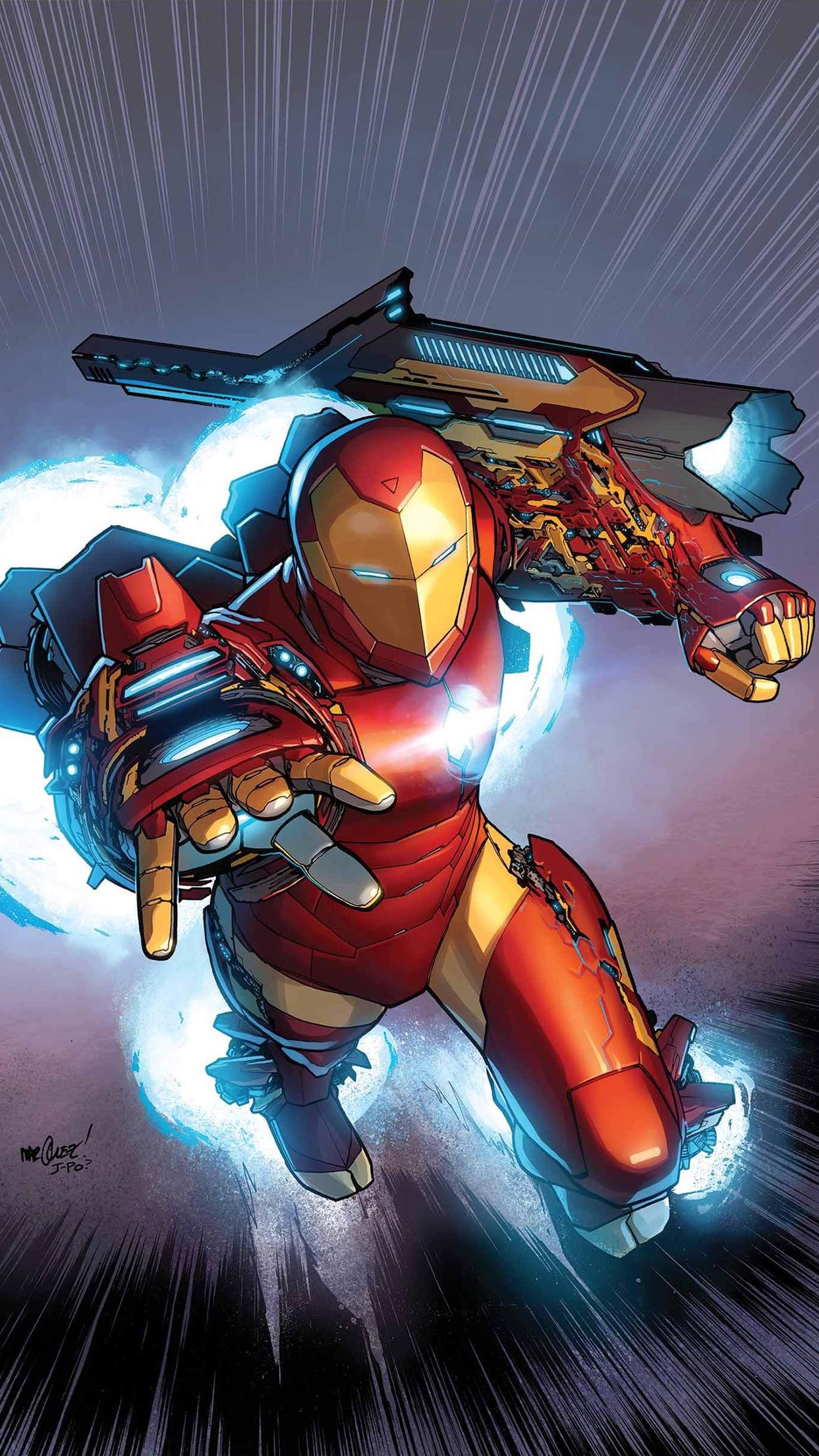 Iron Man Cartoon Wallpaper For Iphone X 8 7 6 Free Download