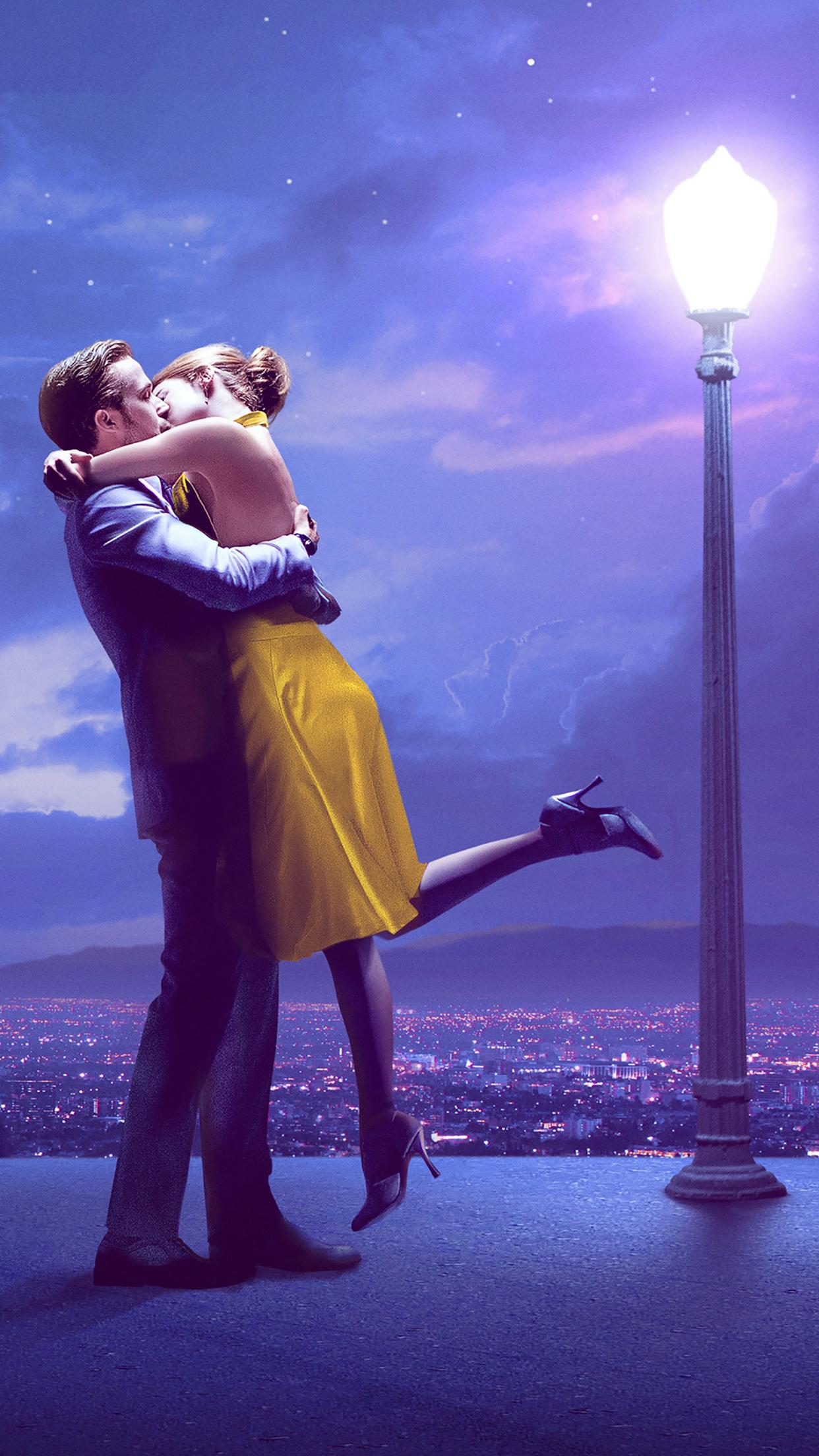 La La Land : Mia & Sebastian Kiss Wallpaper for iPhone X ...