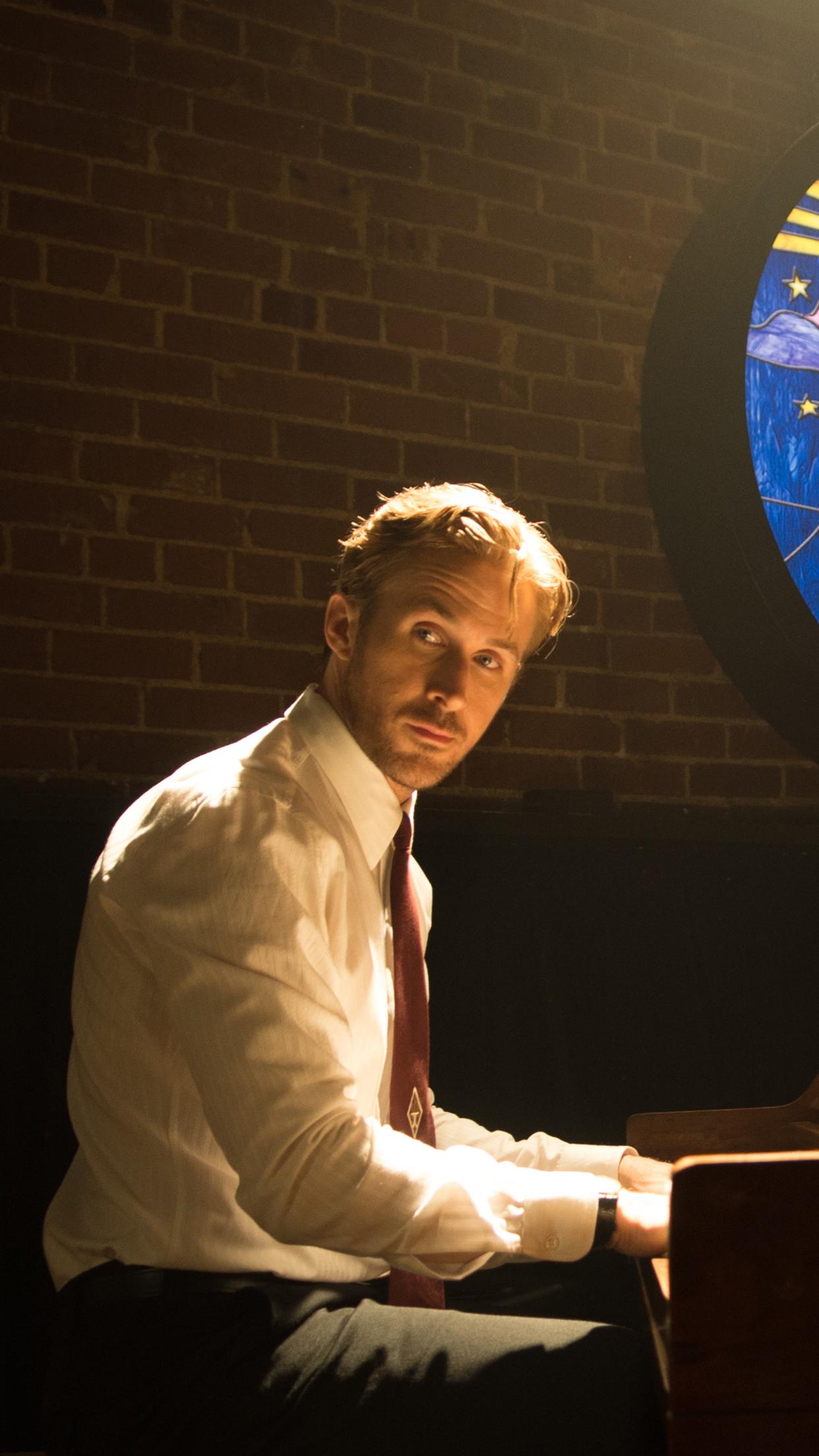 Wallpaper HD iPhone X, 8, 7, 6 - La La Land : Sebastian ... Ryan Gosling Piano