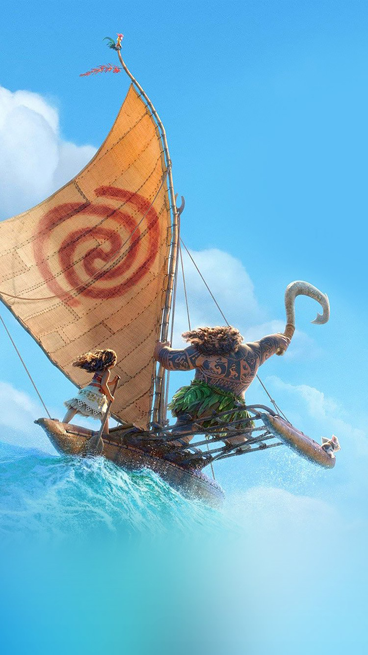 Moana 1 3Wallpapers iPhone Parallax Moana : 1