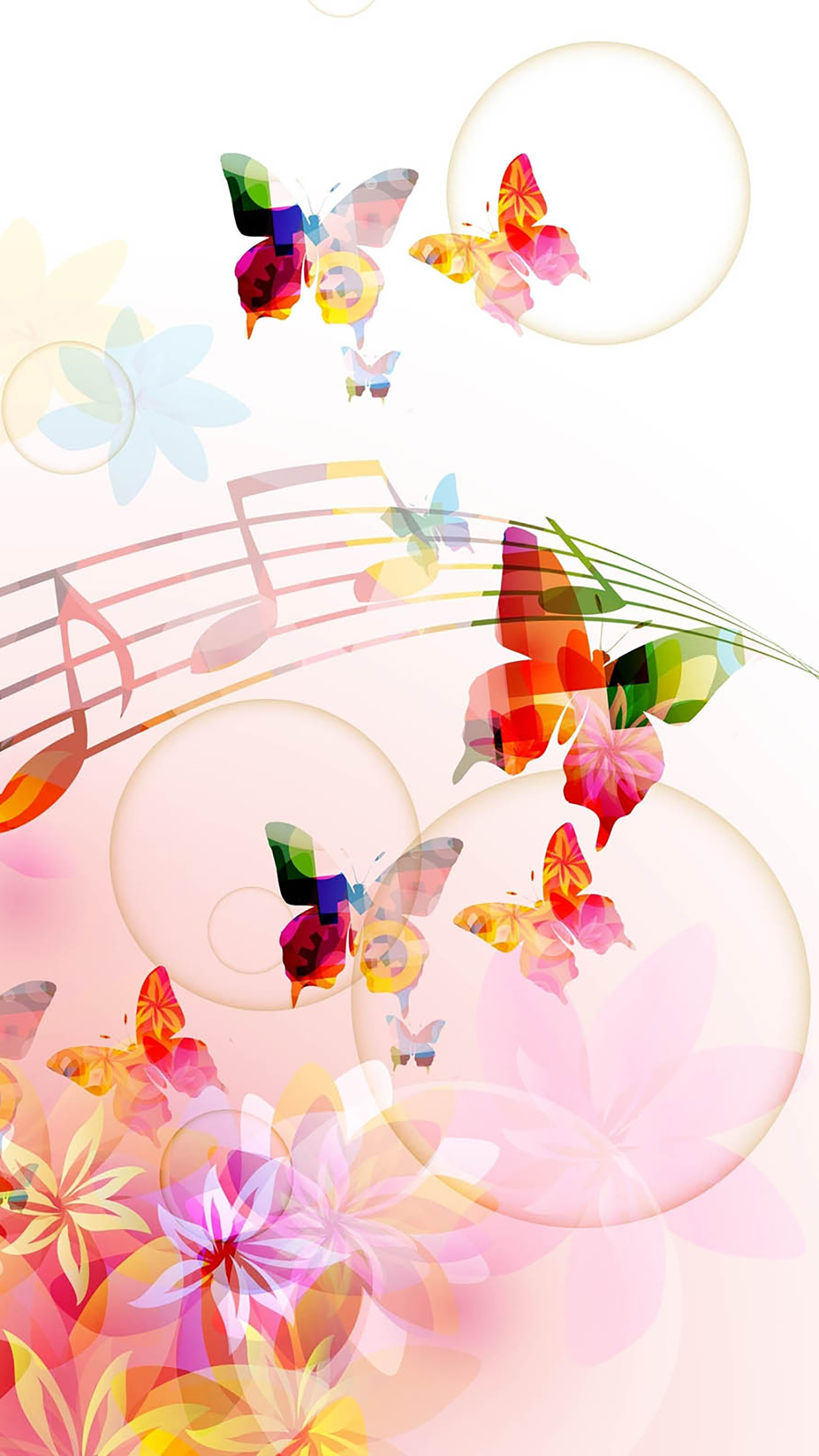 Music Butterflies 3Wallpapers iPhone Parallax Music : Butterflies