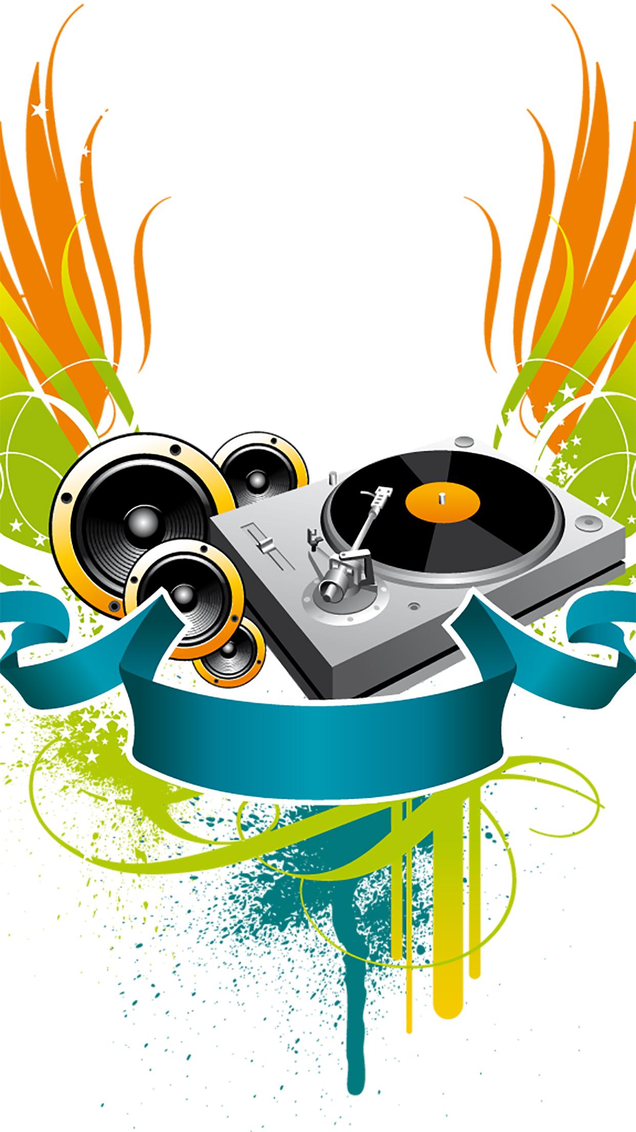 Music DJ 3Wallpapers iPhone Parallax Music : DJ
