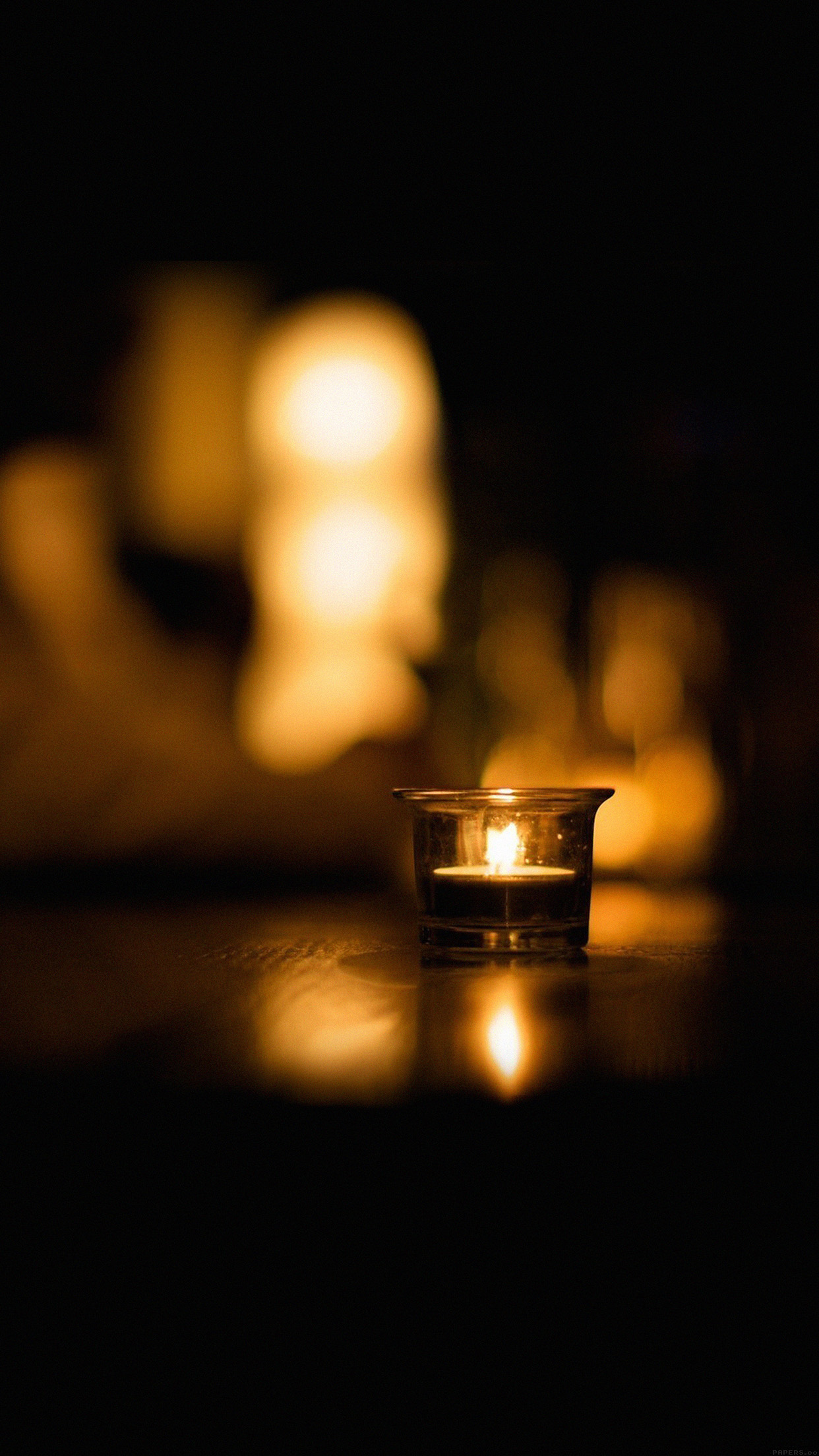 Candle: Light night romantic Wallpaper for iPhone 11, Pro ...