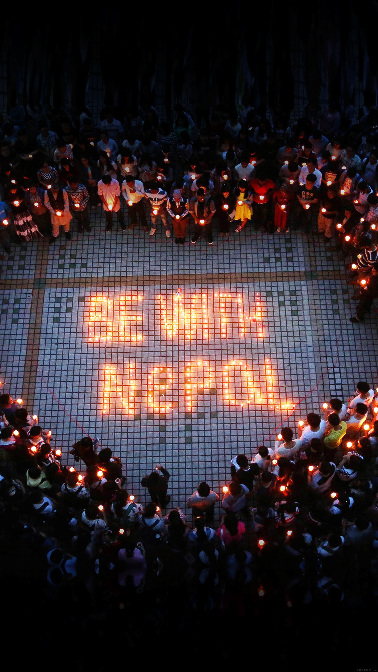 Candle Nepal Earthquake Pray Love 3Wallpapers iPhone Parallax Candle: Nepal earthquake pray love