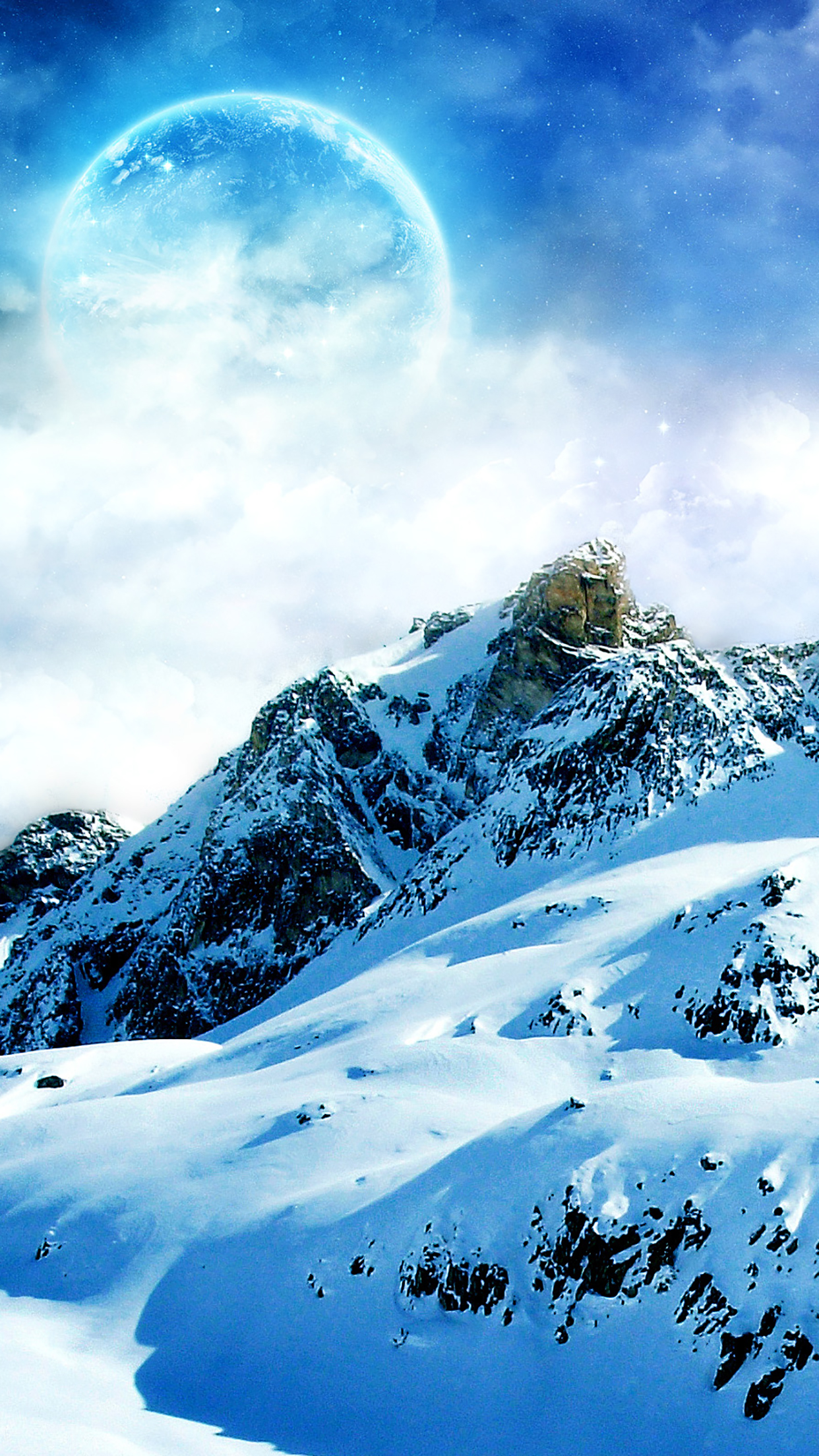 Mountain 3 3Wallpapers iPhone Parallax Mountain : 3
