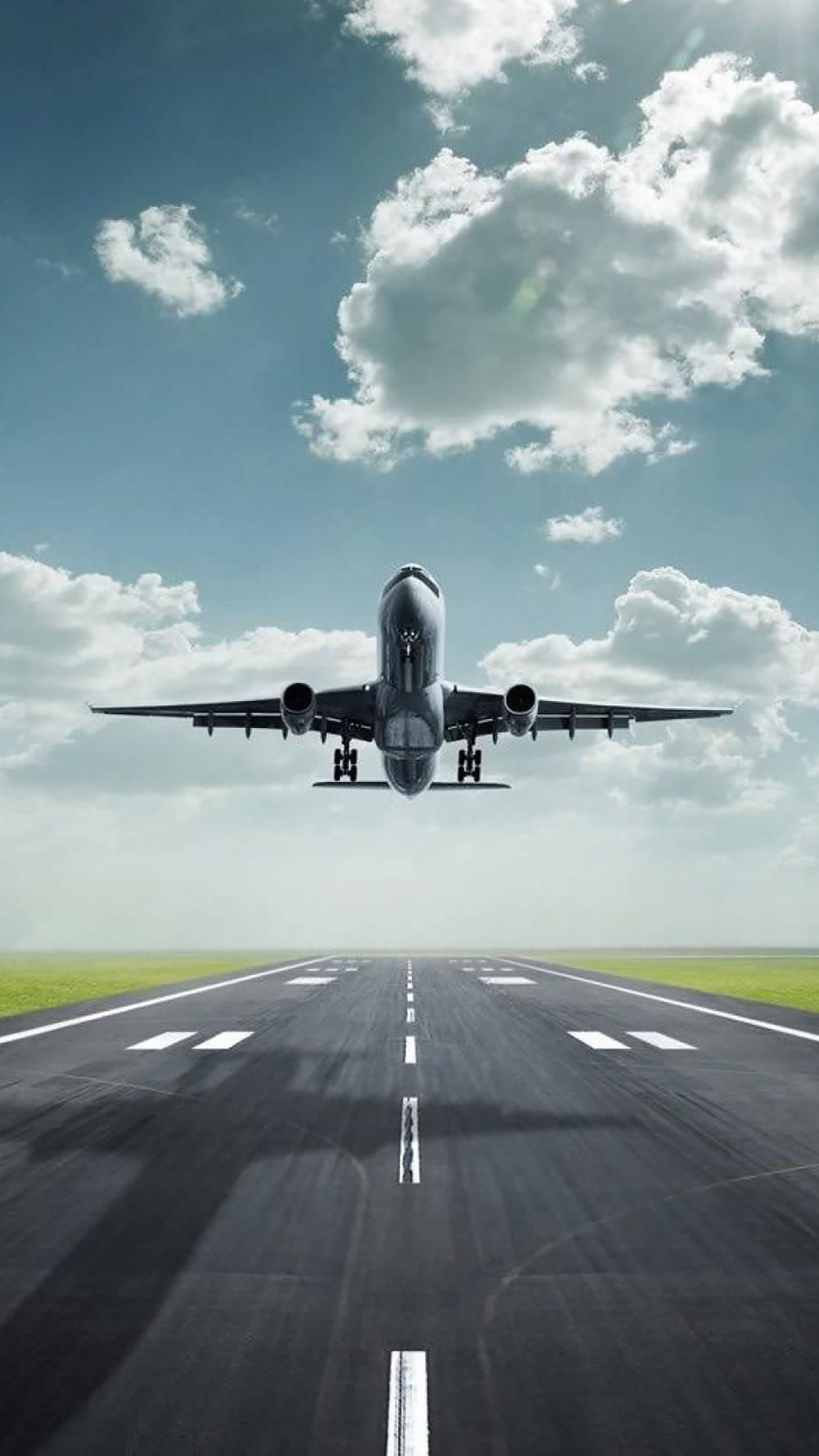 Airplane Take Off 1 3Wallpapers iPhone Parallax Airplane Take Off : 1