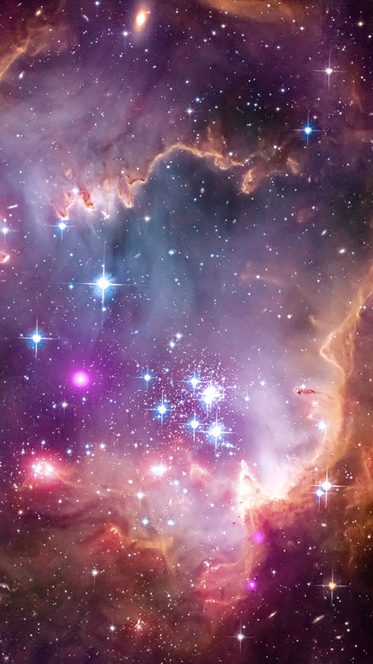 Galaxies 2 3Wallpapers iPhone Parallax Galaxies : 2