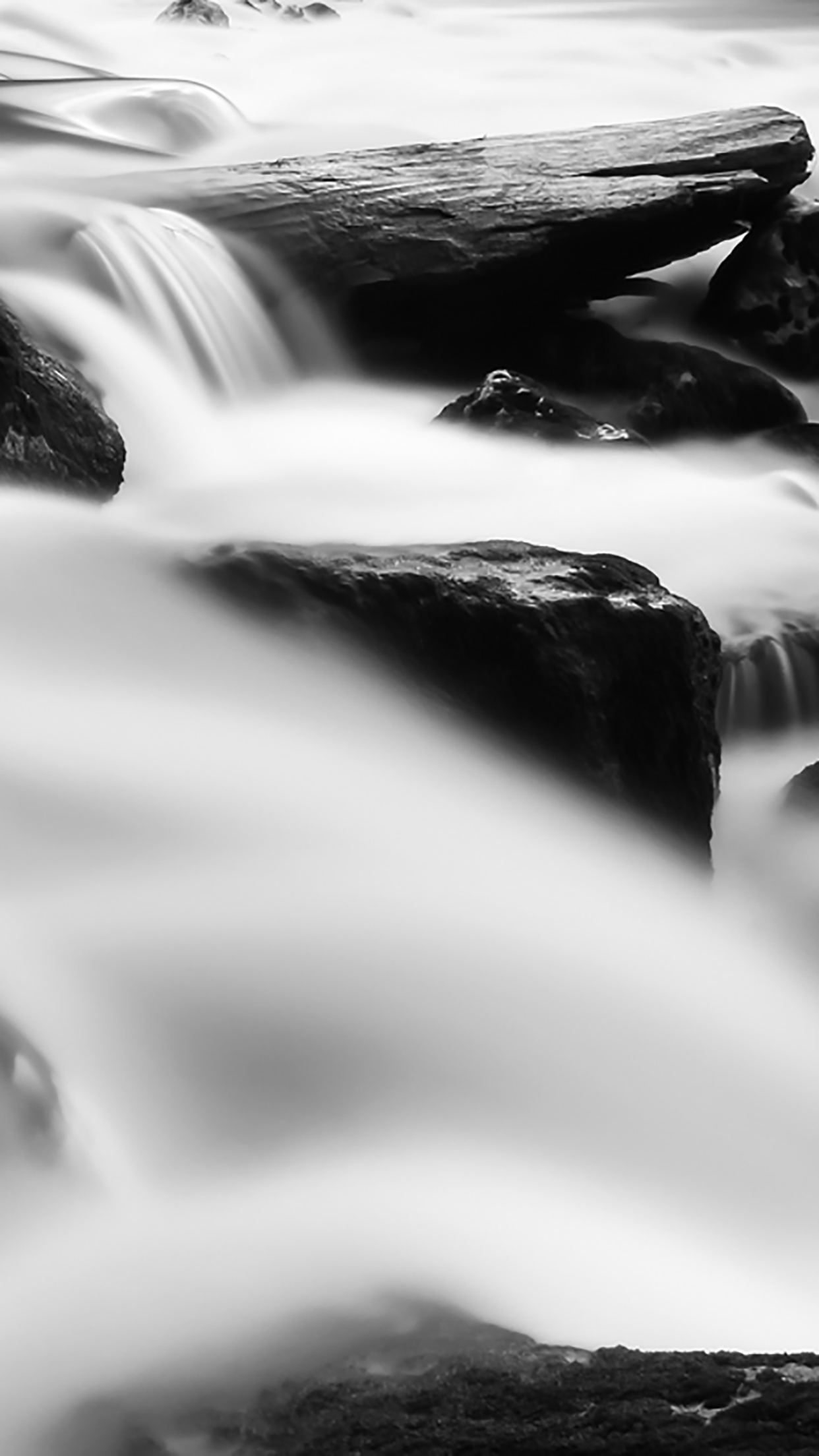 Nature Black And White River 3Wallpapers iPhone Parallax Nature Black And White : River
