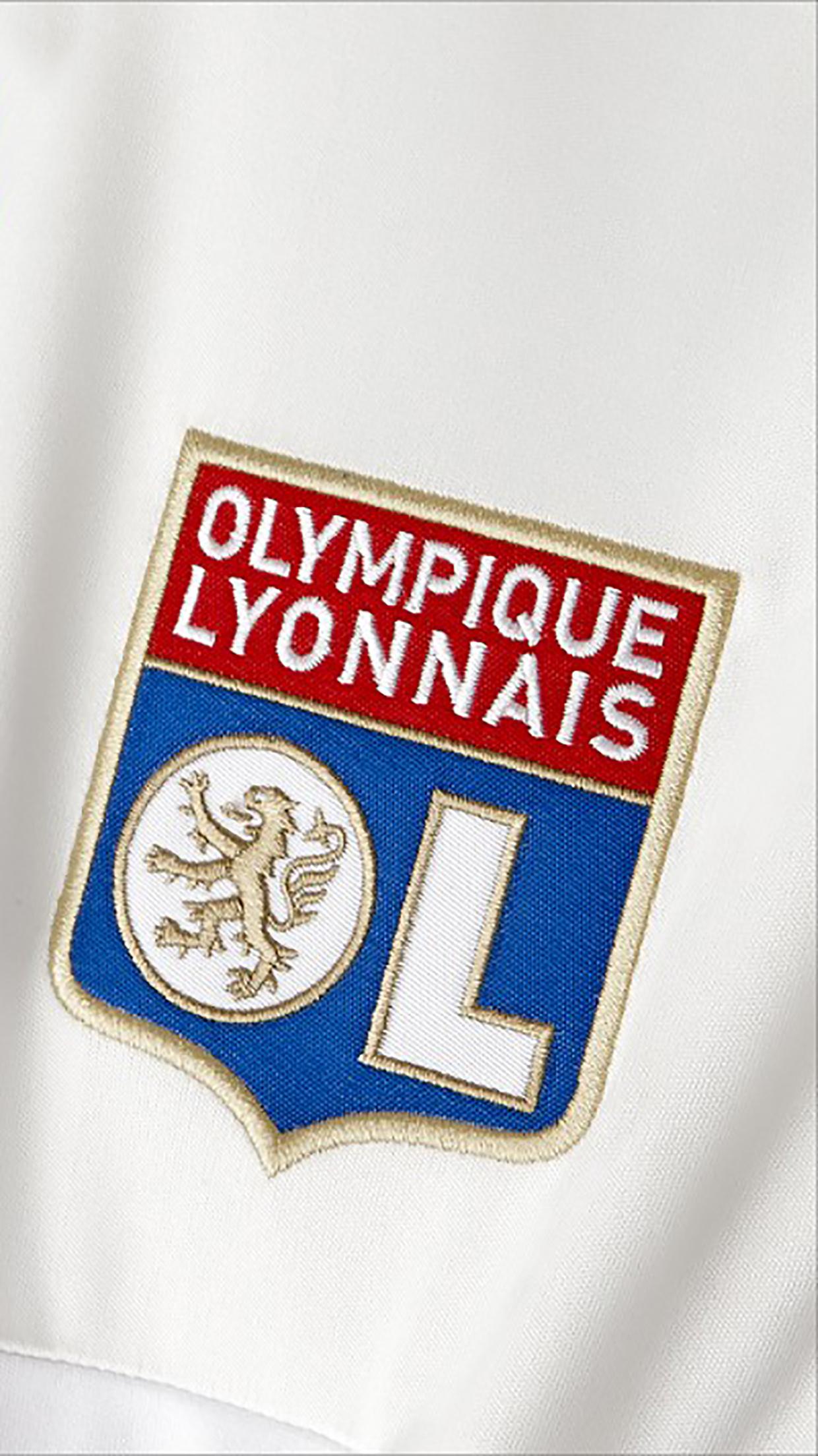 Olympique lyonnais logo 1 wallpaper for iphone x 8 7 - Logo olympique lyonnais ...