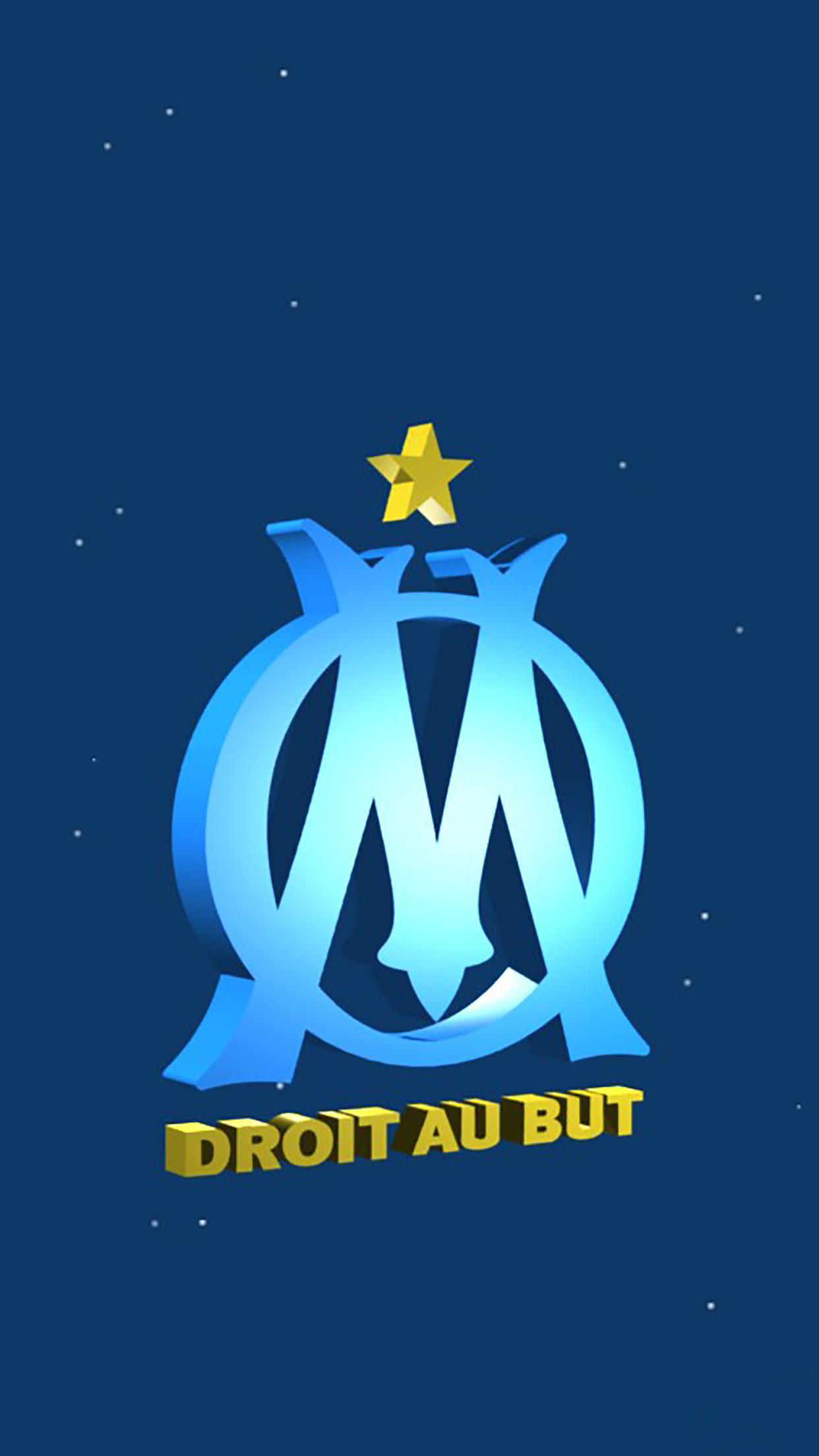 olympique de marseille logo 3 wallpaper for iphone x 8